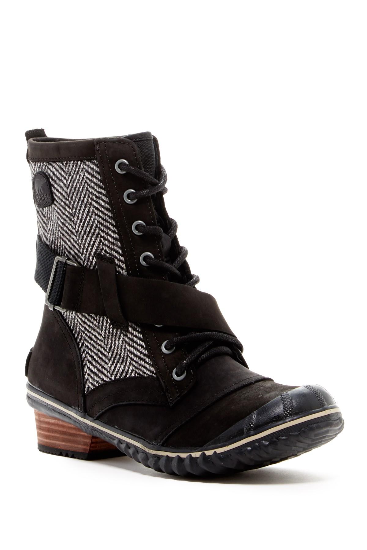Sorel Slimboot Lace Up Waterproof Boot Women In Black Lyst