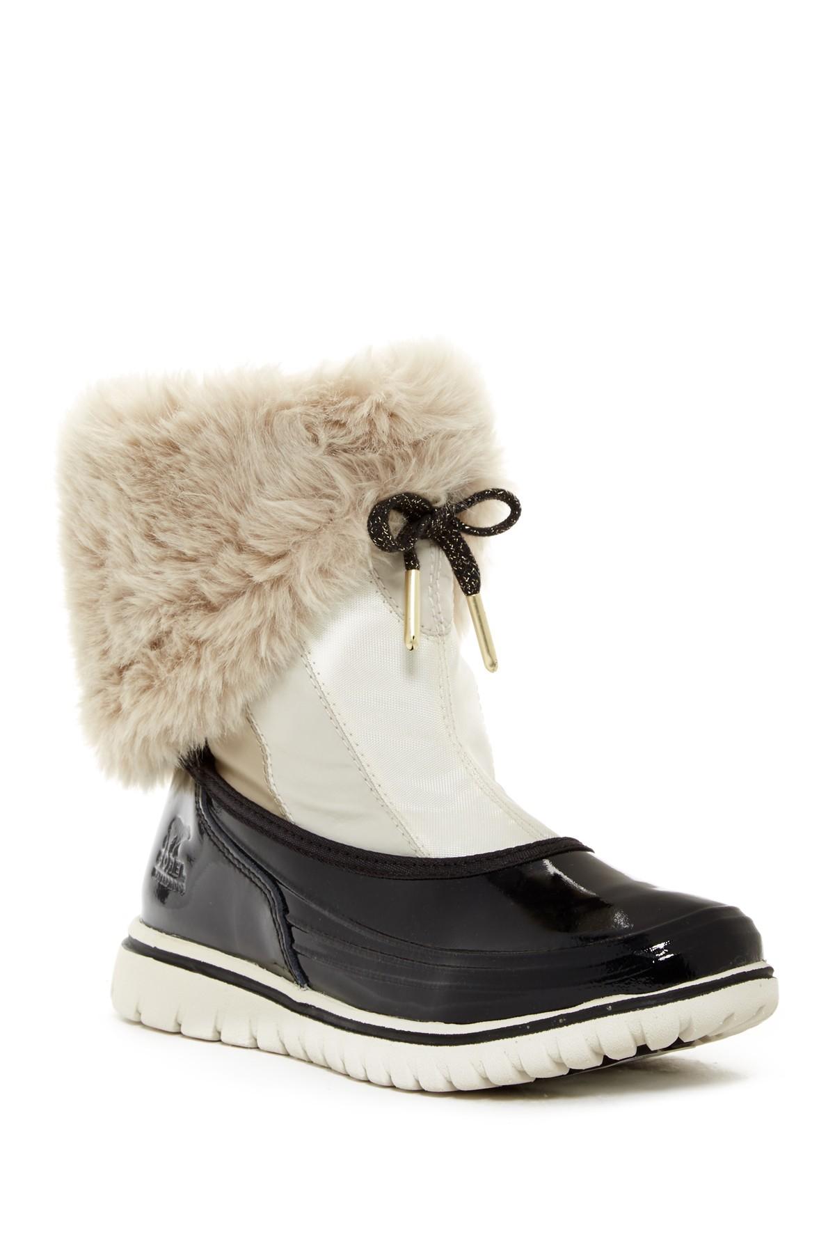 Lyst - Sorel Snowdance Pull On Faux Fur Lined Waterproof Boot (women) 190ee178f