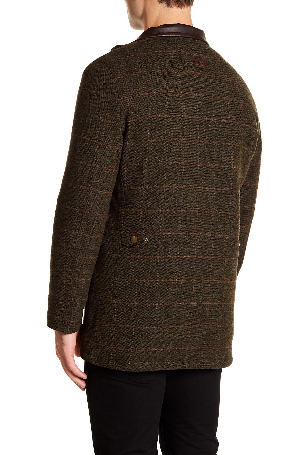 ca126b3fce2a Green Lyst Wool Barbour Jacket Tweed For Prest Men In gaYwgx