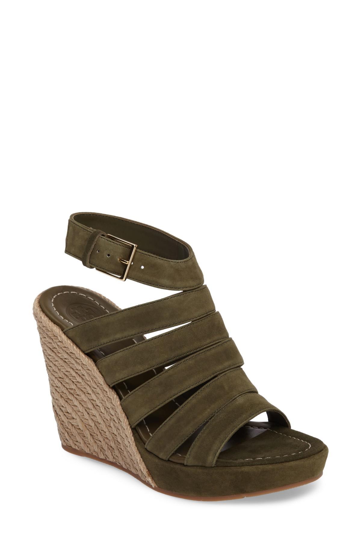 78348867de73 Lyst - Tory Burch Bailey Wedge Sandal (women) in Green