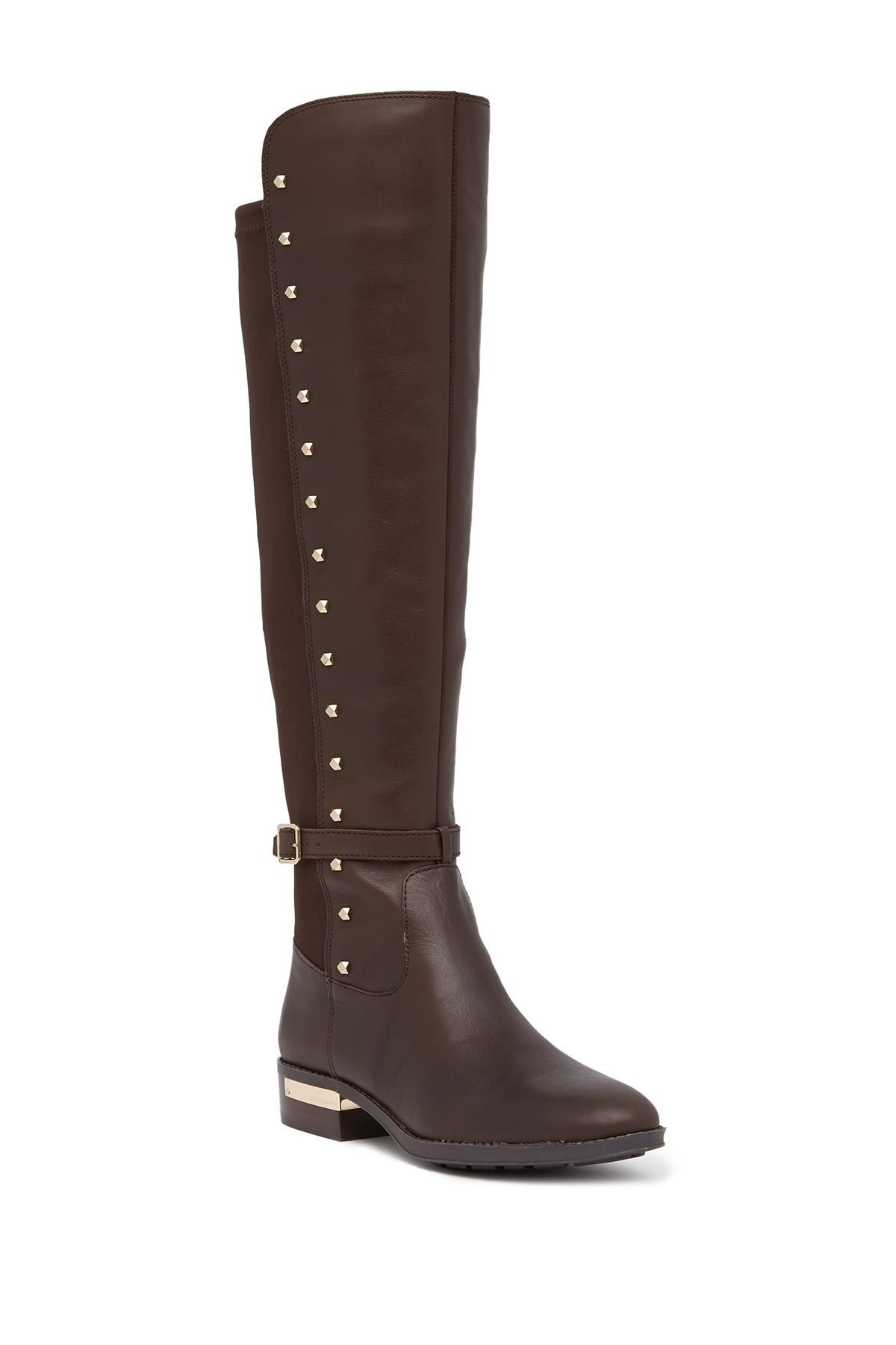 9208eefec8a Lyst - Vince Camuto Pelda Riding Boot in Brown