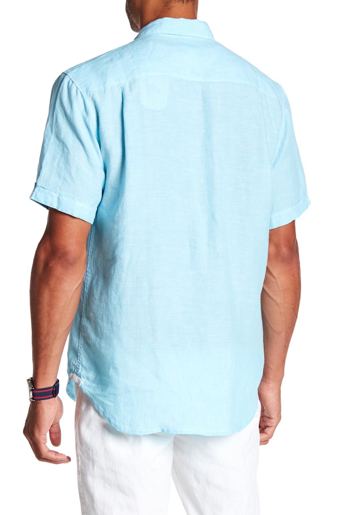 8d9e1c816 Tommy Bahama - Blue Party Breezer Modern Fit Linen Shirt for Men - Lyst.  View fullscreen