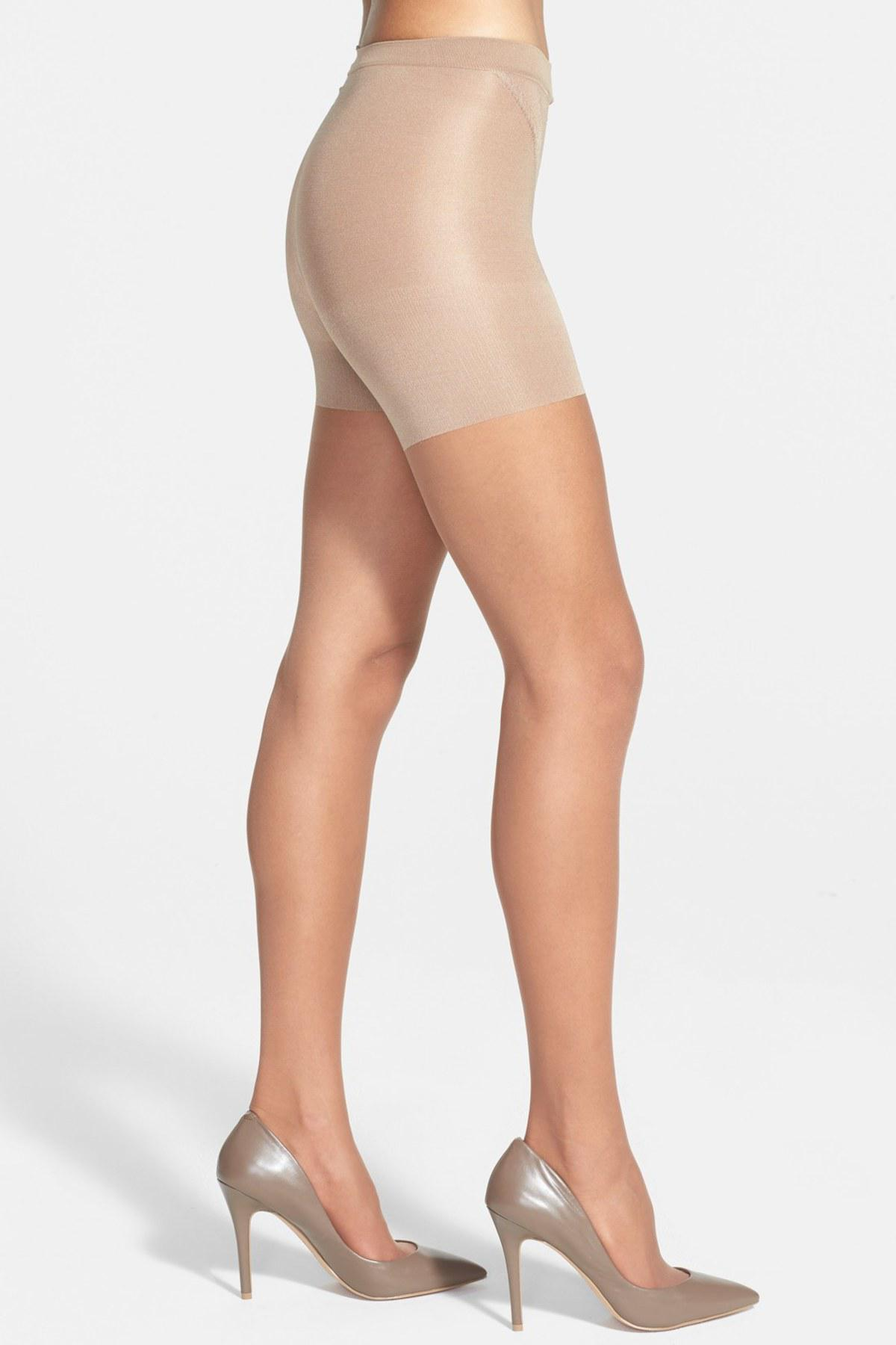 a50e1b80891 Lyst - Spanx Original Sheer Tights in Brown