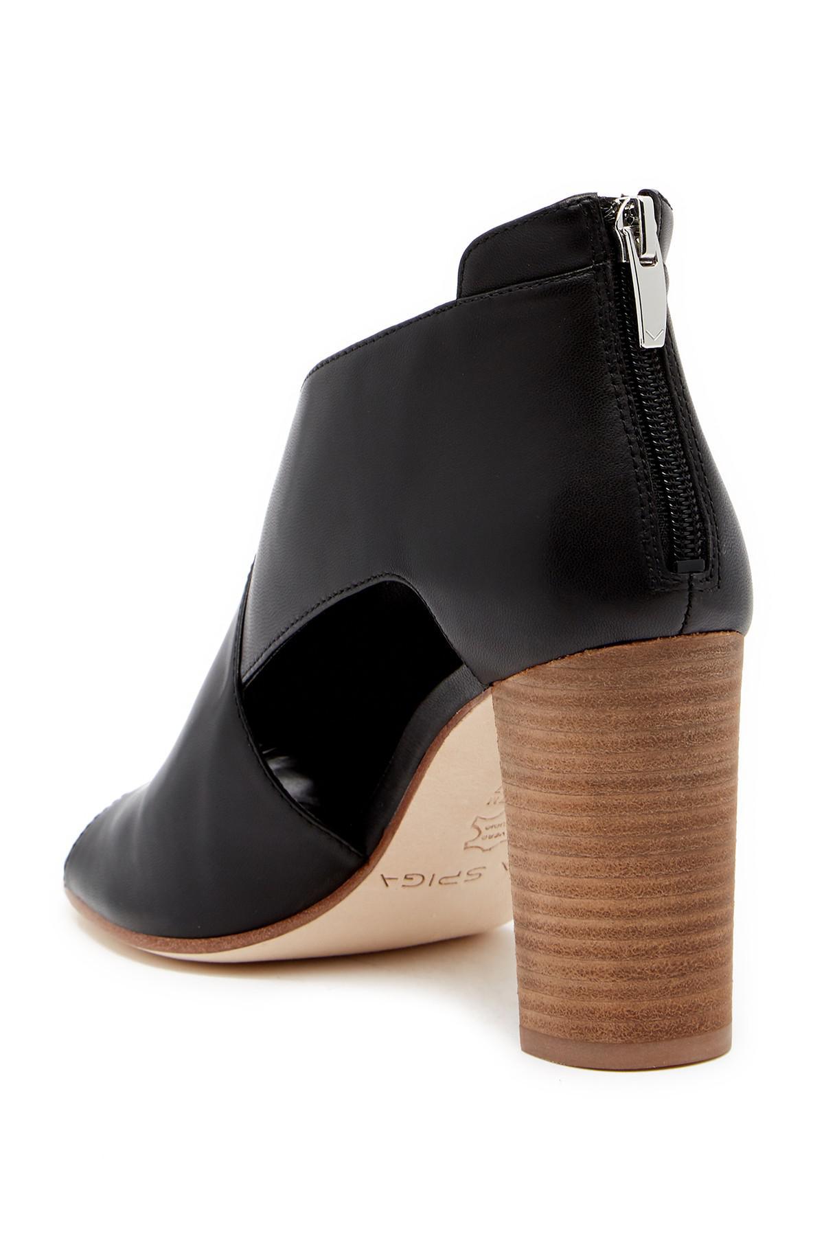 Lyst Via Spiga Gerri Block Heel Sandal In Black