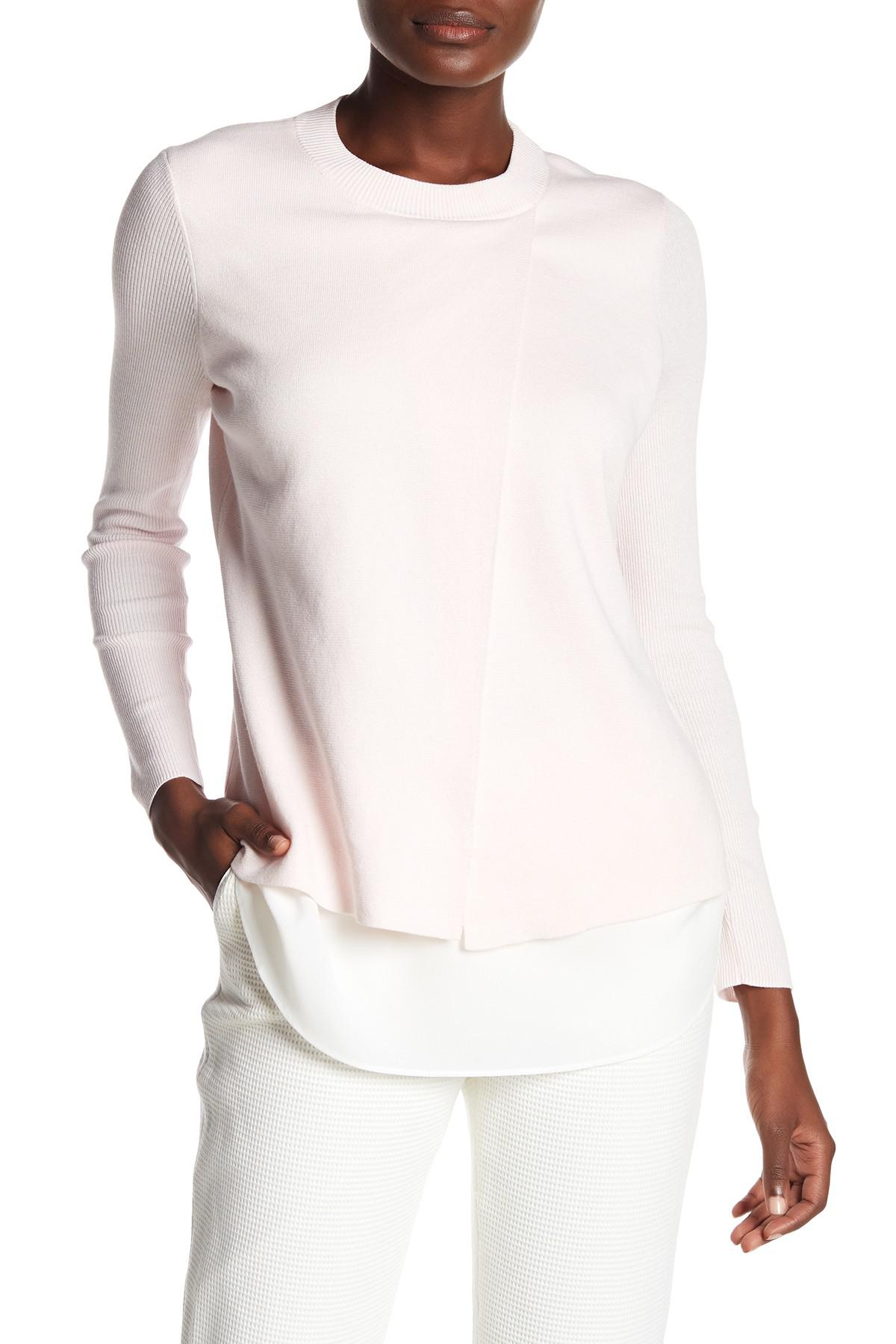 Lyst Ted Baker Denay Layered Long Sleeve Sweater In Pink