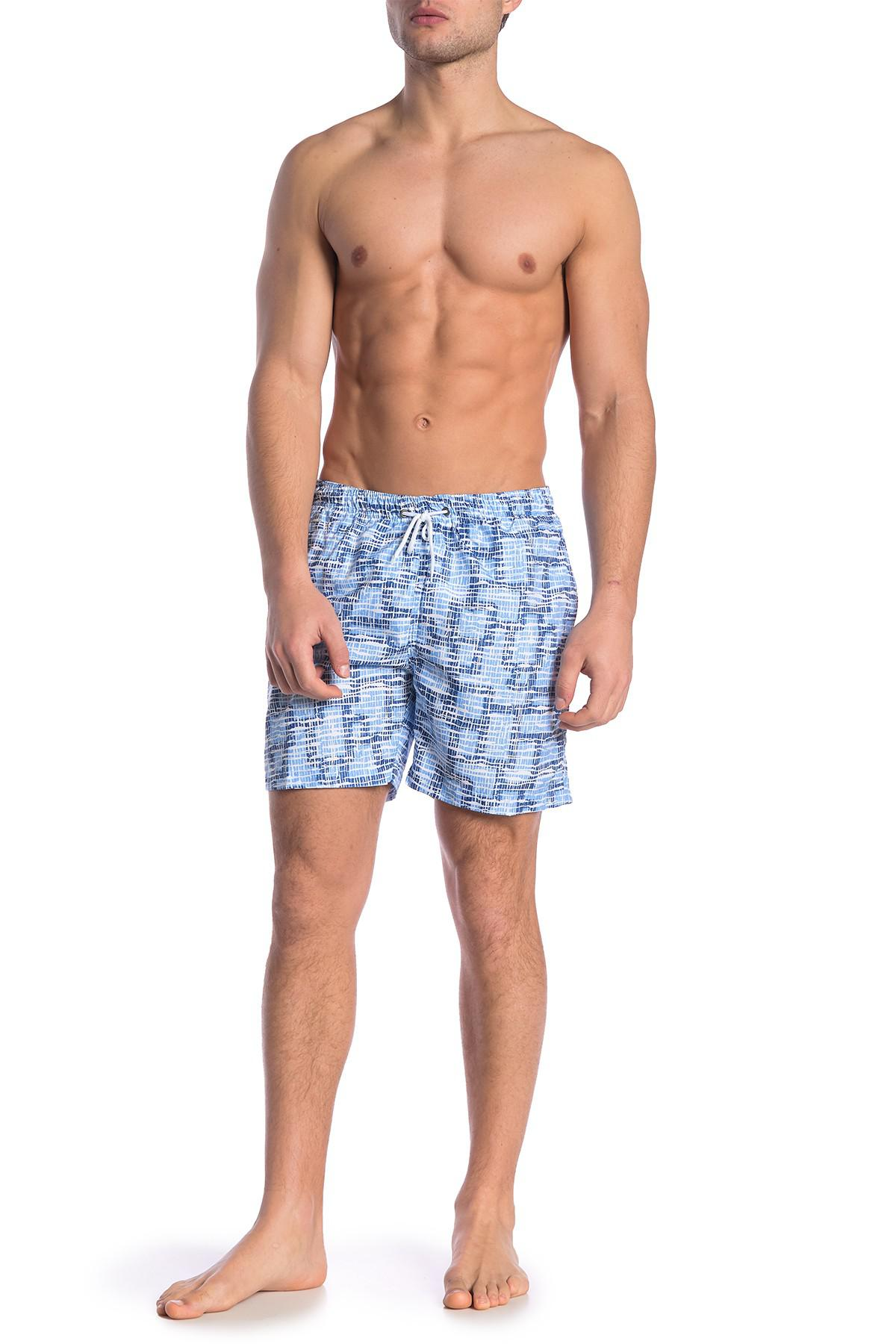 b3a9514bc8 Lyst - TRUNKS SURF AND SWIM CO Sano Printed Swim Trunks in Blue for Men