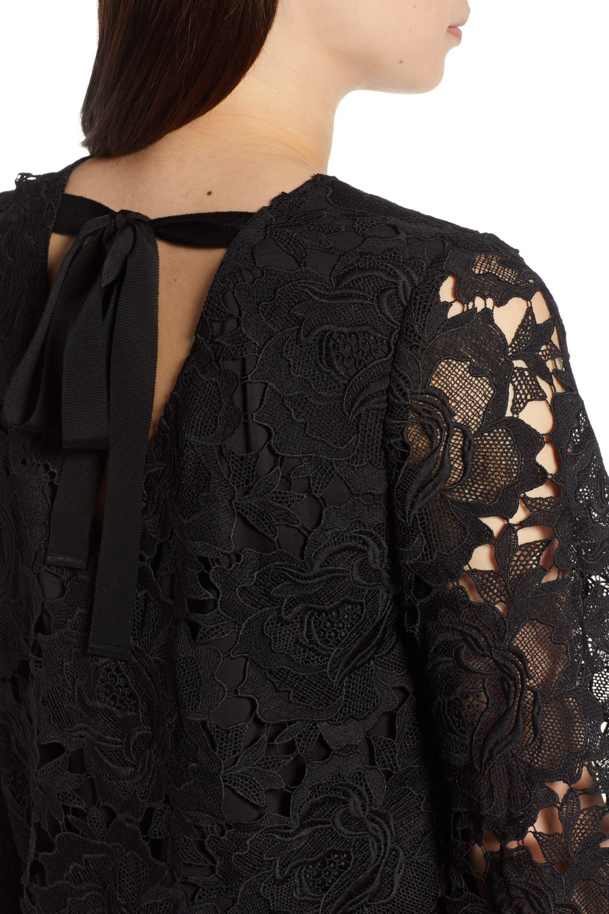 871a6515729 Halogen - Black (r) Lace Blouse (regular   Petite) - Lyst. View fullscreen