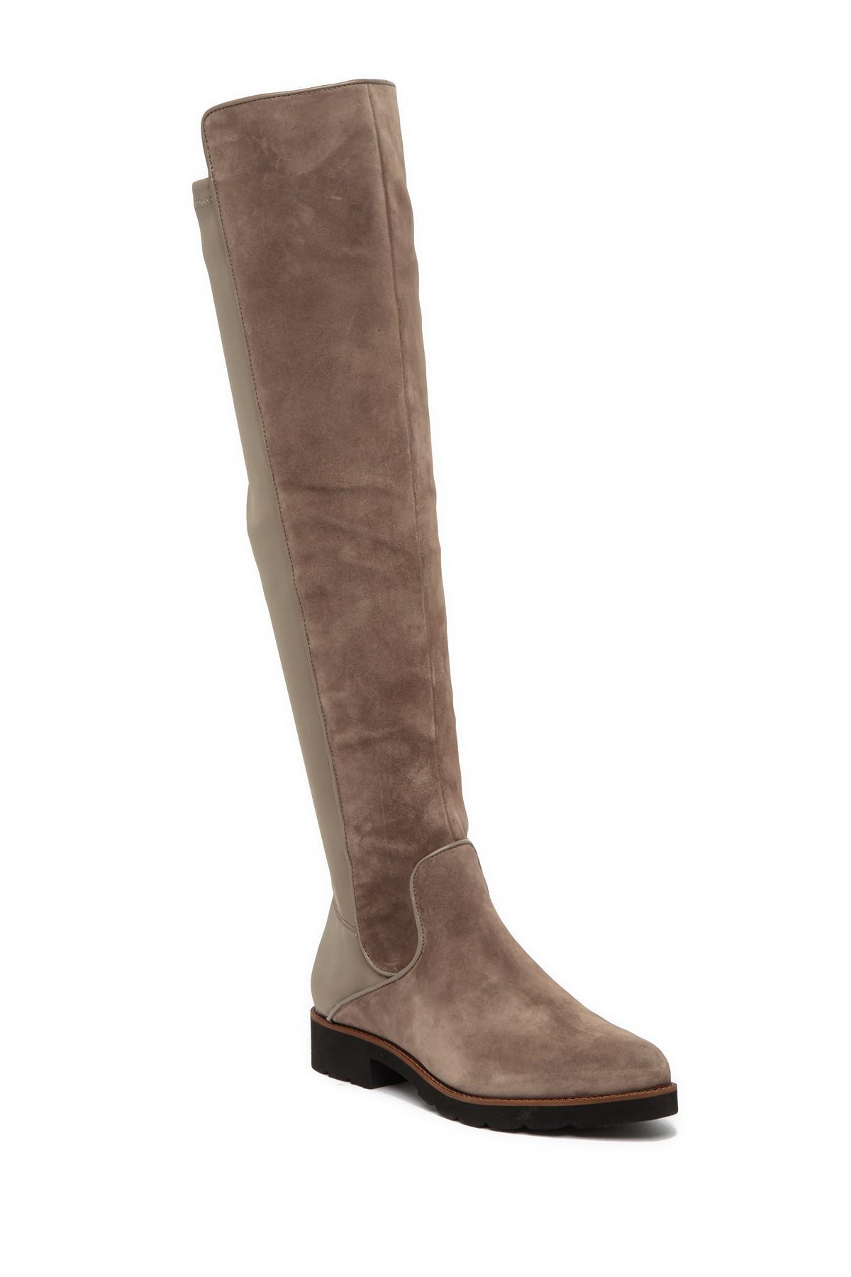 27c0b591549 Lyst - Franco Sarto Benner Leather Over-the-knee Boot in Brown