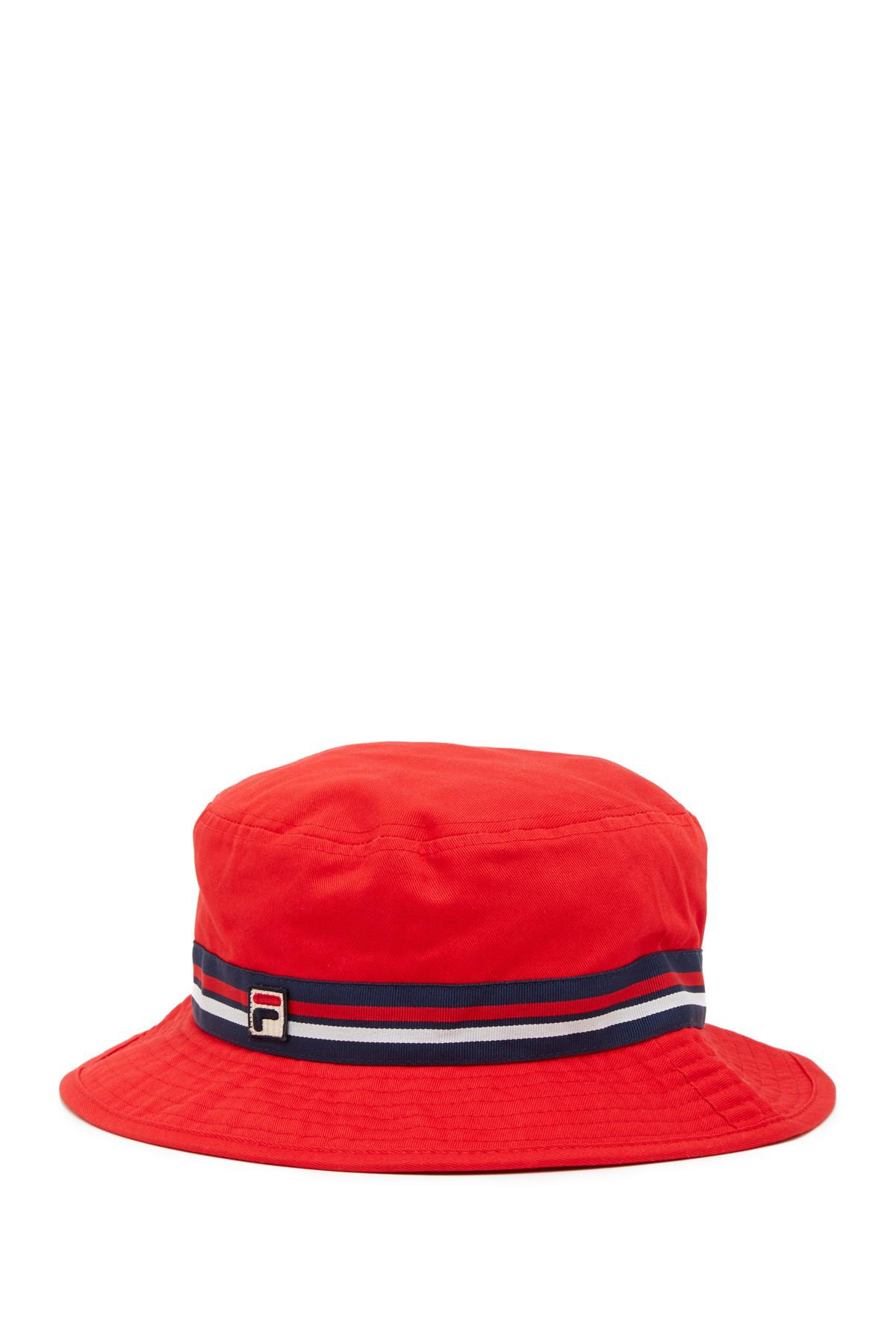 1577fe5830a Fila Heritage Boonie Bucket Hat in Red for Men - Lyst