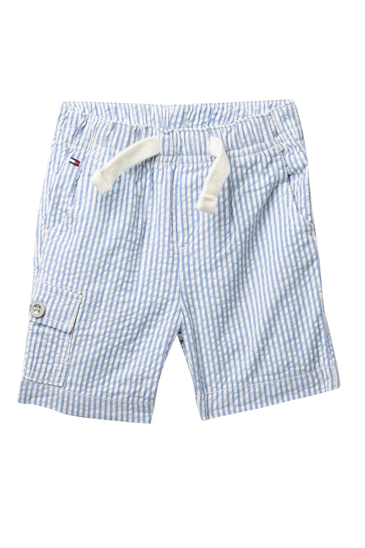 cdecfb3c0f Tommy Hilfiger Tom Seersucker Shorts (baby Boys 3-9m) in Blue for ...