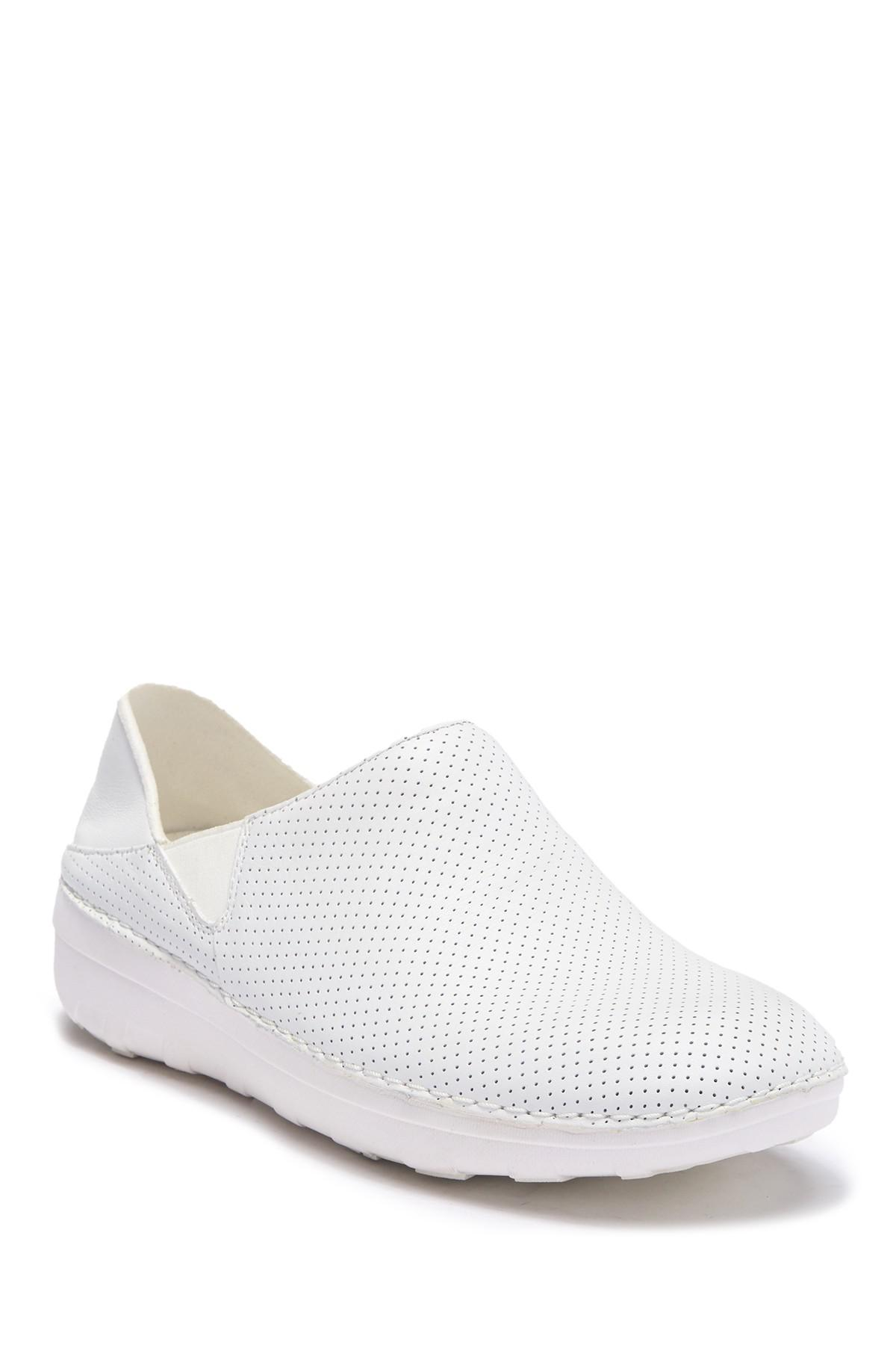 4a927deccad Lyst - Fitflop Perforated Leather Superloafer in White for Men