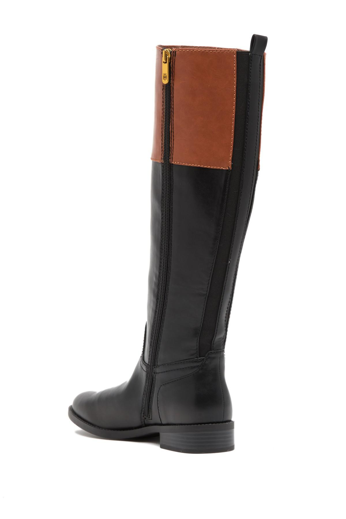 dd21ac952e8 Lyst - Tommy Hilfiger Noraa Riding Boot in Black