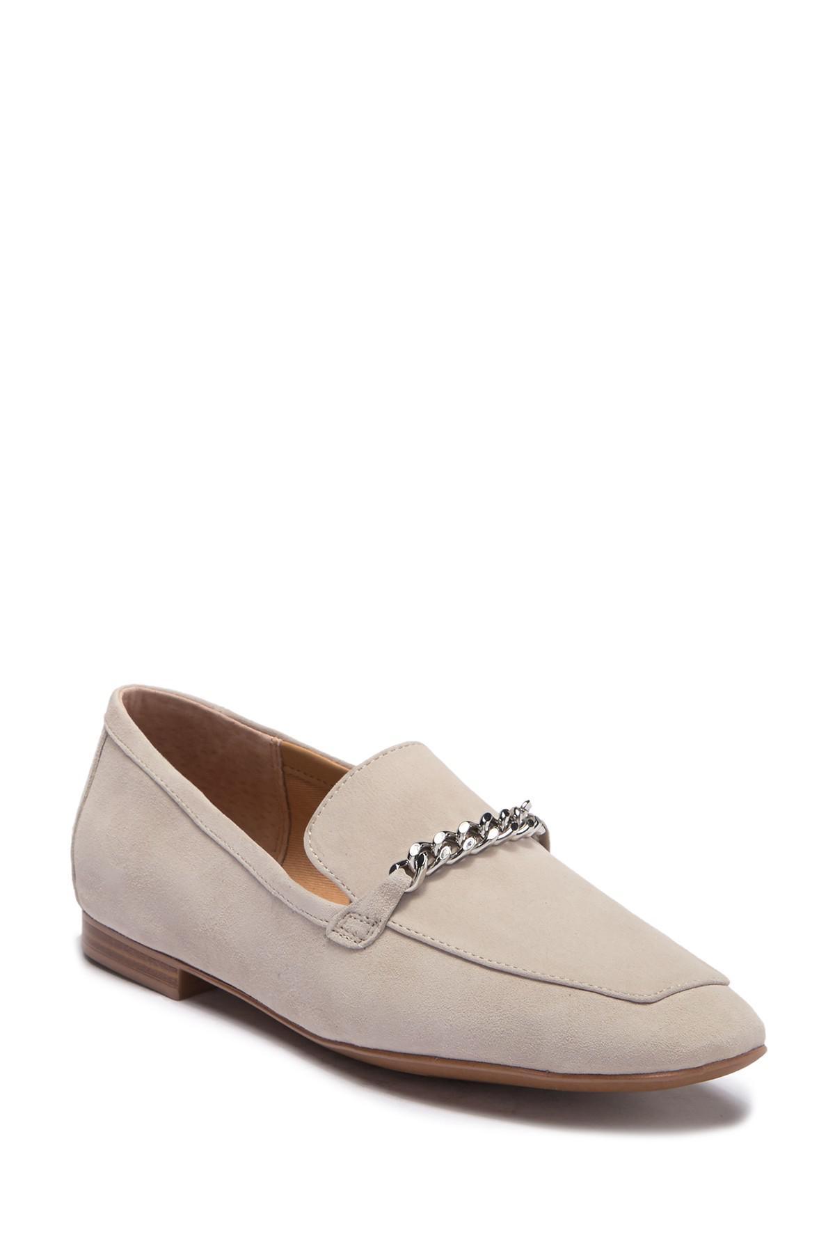 95da4fe0d43 Lyst - Franco Sarto Dana Suede Chain Loafer in Gray