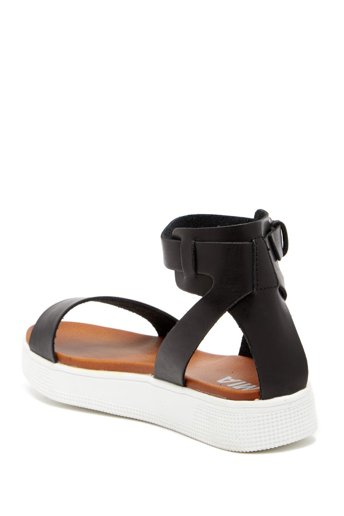709b9c2fa26 MIA - Black Platform Sandal (women) - Lyst. View fullscreen