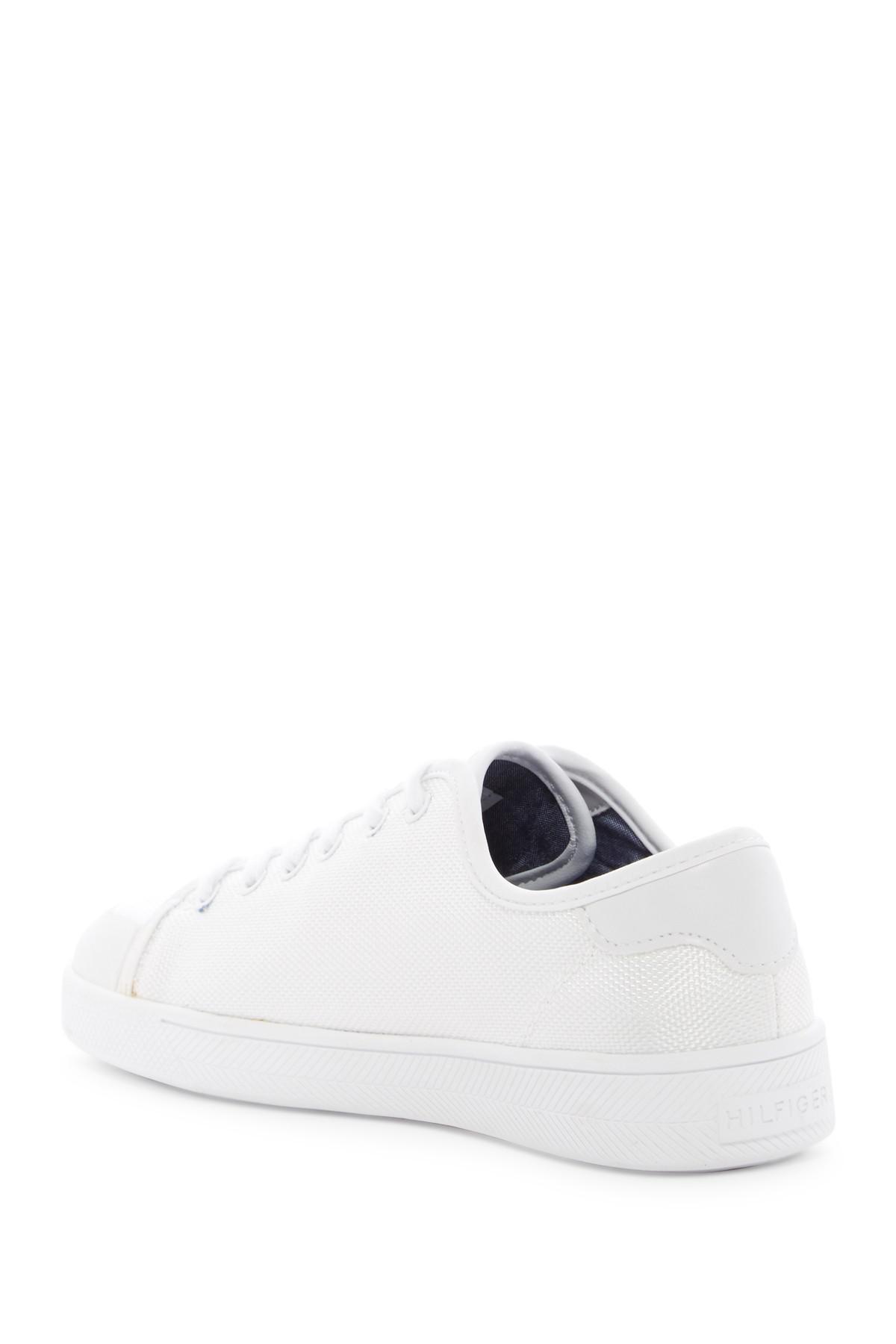 19c38a8d7594 Lyst - Tommy Hilfiger Spruce Platform Sneaker in White