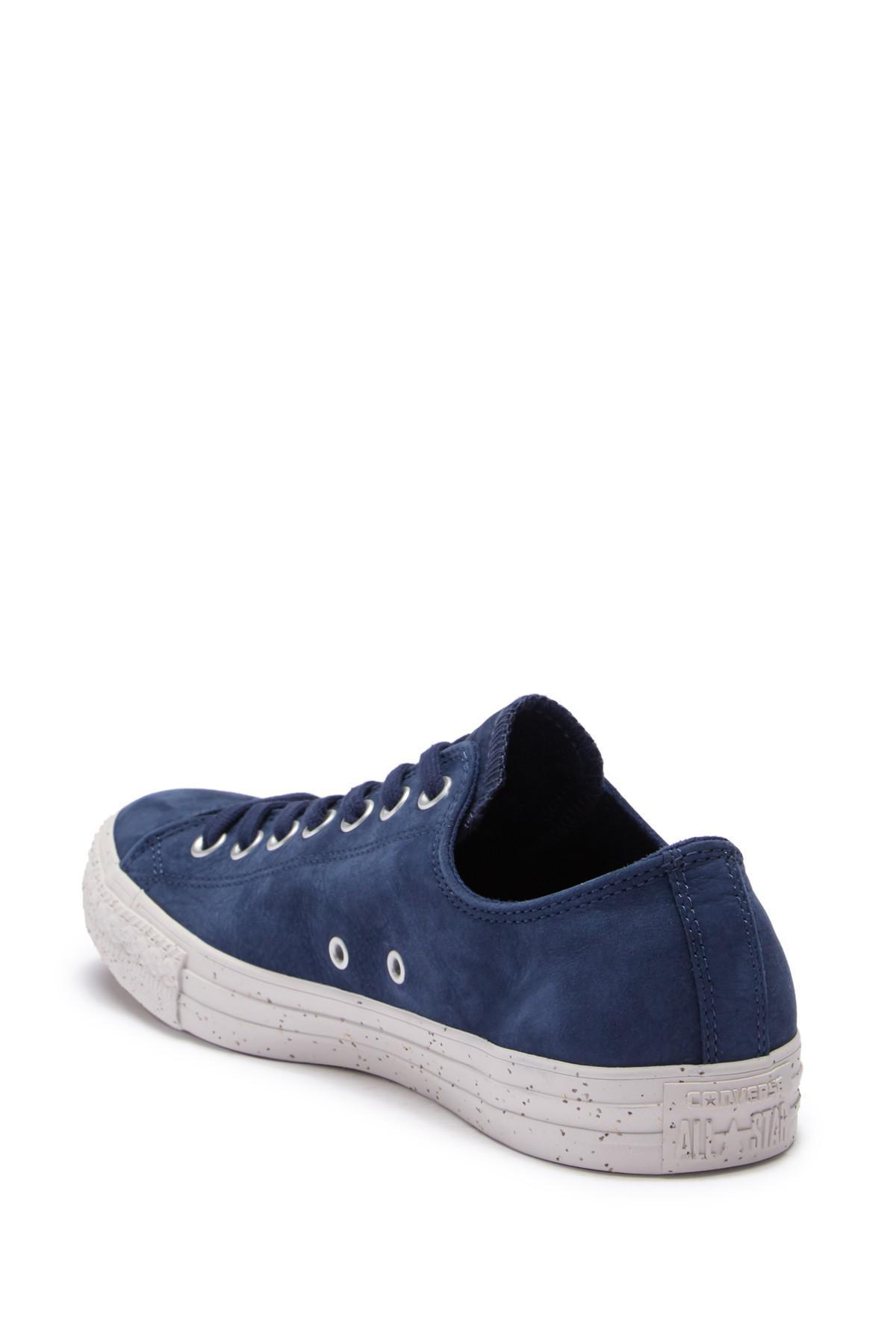 51e6b3f0cc21 Converse - Blue Chuck Taylor All-star Ox Suede Sneaker (unisex) for Men.  View fullscreen