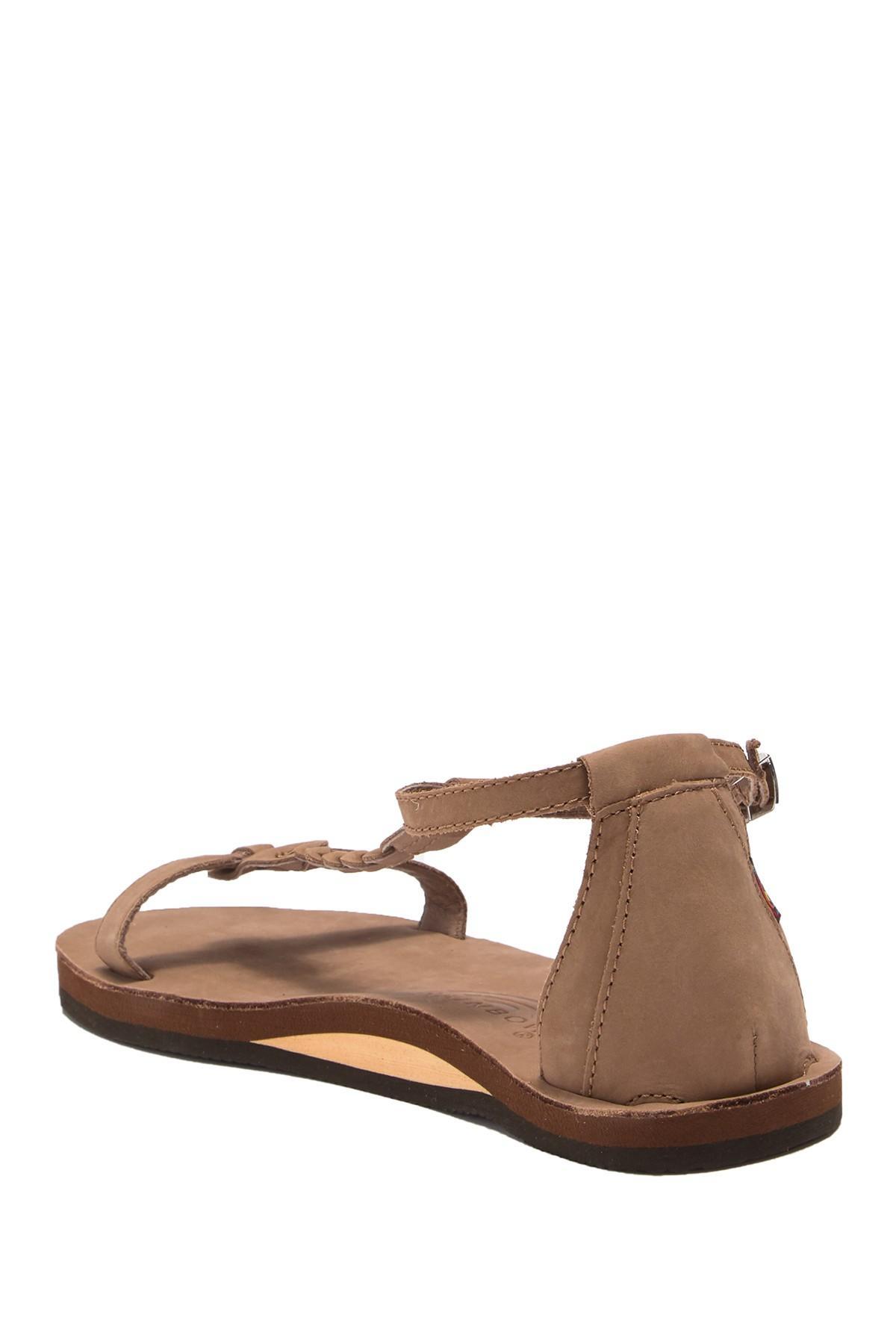 1cc6a9125e6 Rainbow Sandals - Brown Calafia Single Layer Center Braid Heel - Lyst. View  fullscreen