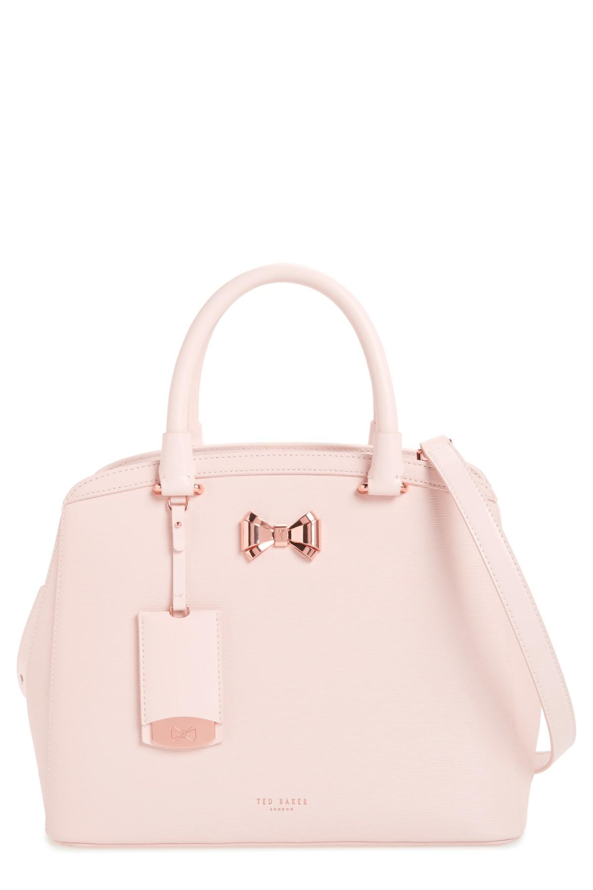 4f133c2c9884 Lyst Ted Baker Small Tealia Leather Satchel In Pink. Ted Baker London Alisa  Crosshatch Crossbody Bag At Nordstrom Rack Free Shipping On Orders Over 100