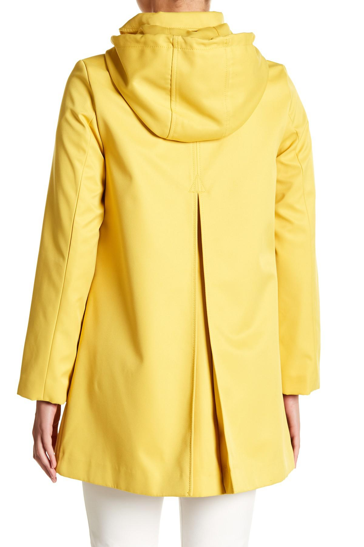 0cc79199a5b2 Lyst - Kate Spade Scallop Edge Raincoat in Yellow