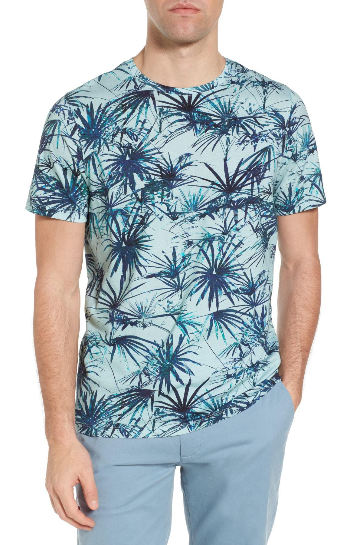 70ab28ea2cdf61 Lyst - Ted Baker Yorkii Crewneck T-shirt in Blue for Men
