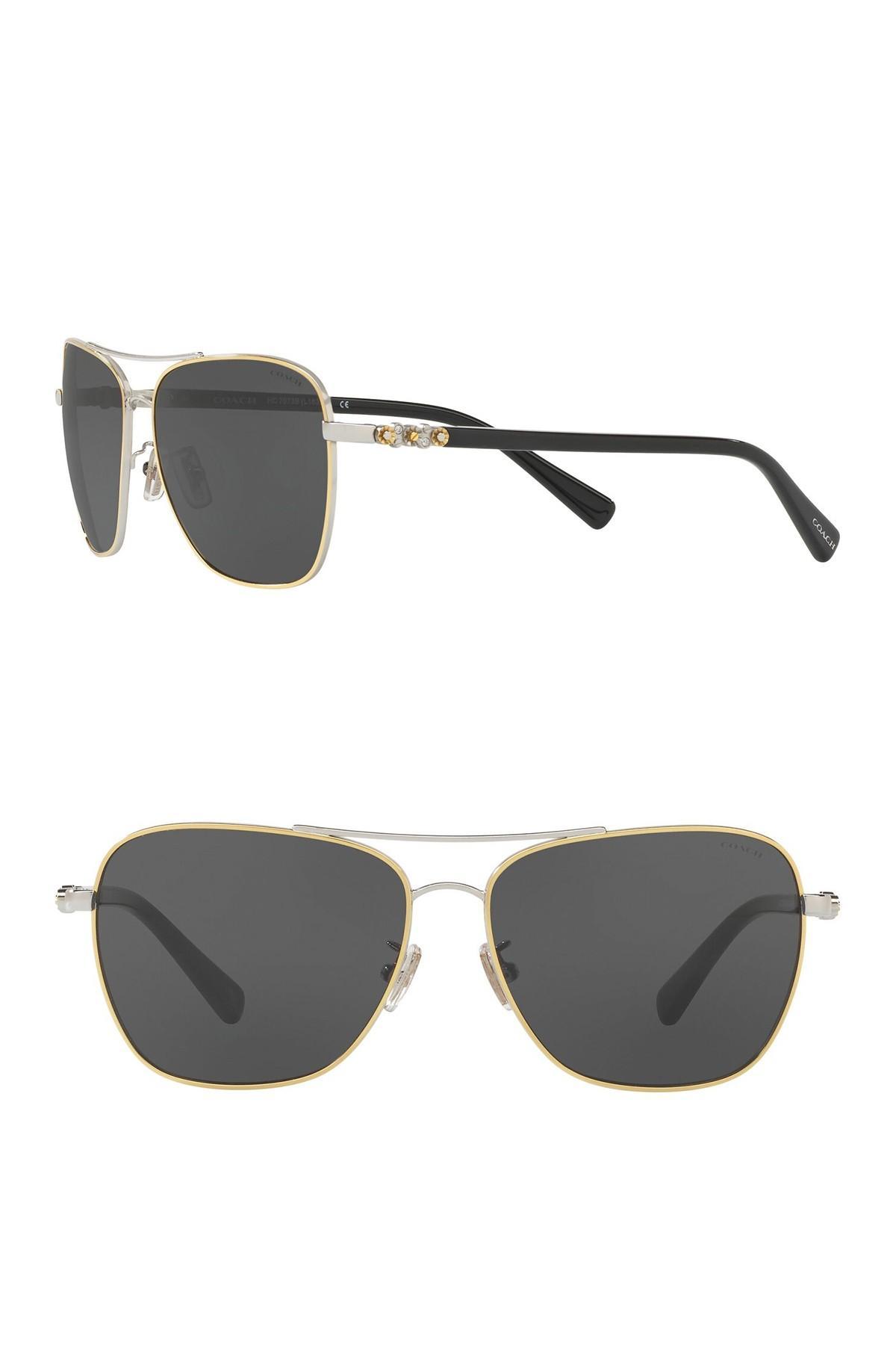 eae41797f8bc COACH. Women's 59mm Uptown Aviator Sunglasses