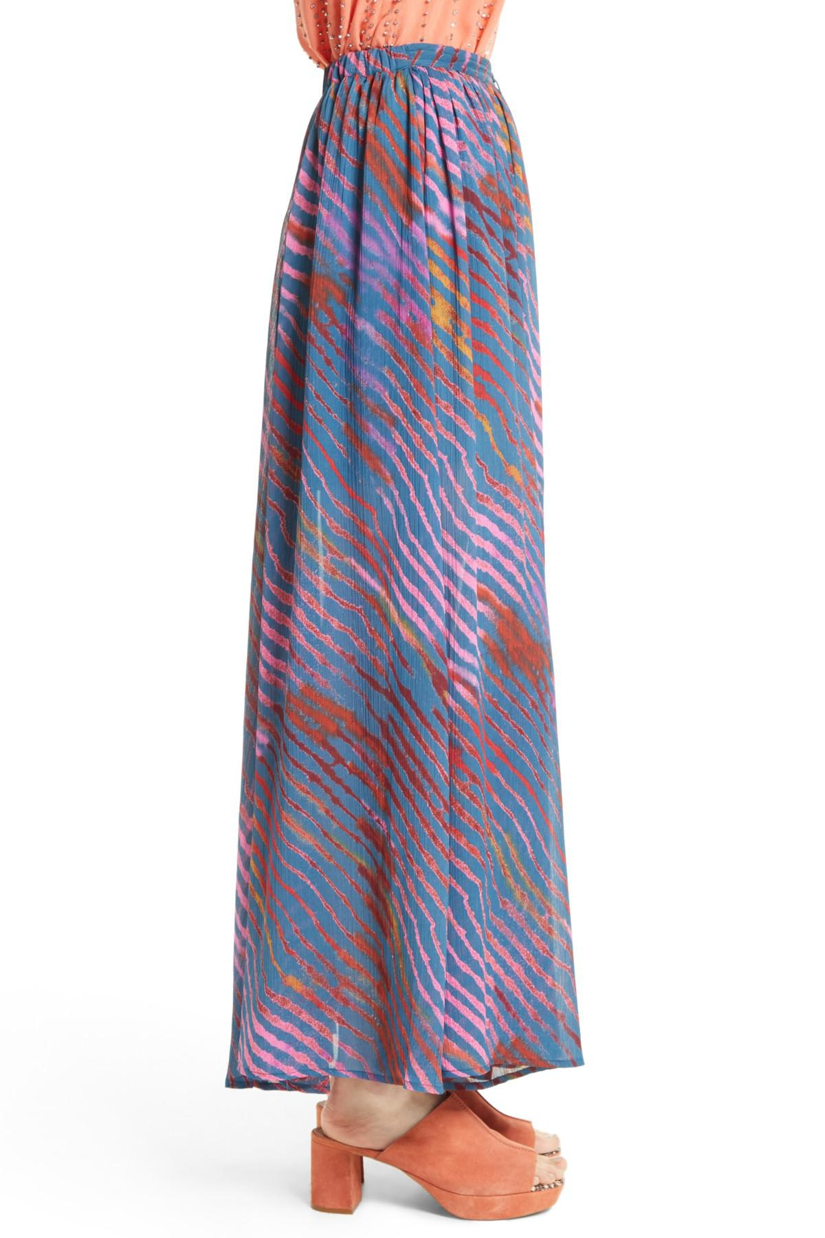 827f033cb1 Free People True To You Maxi Skirt in Blue - Lyst