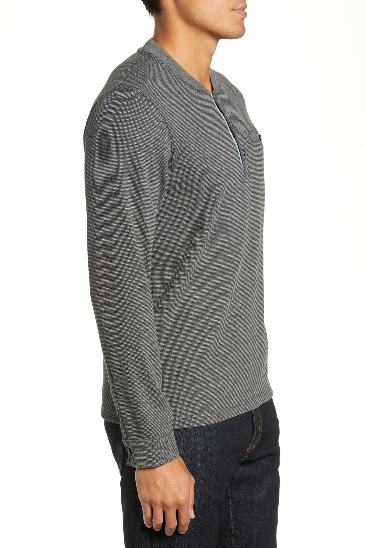 61f9f0b73 Lyst - Ted Baker Slim Fit Mojave Thermal Pocket Henley in Gray for ...
