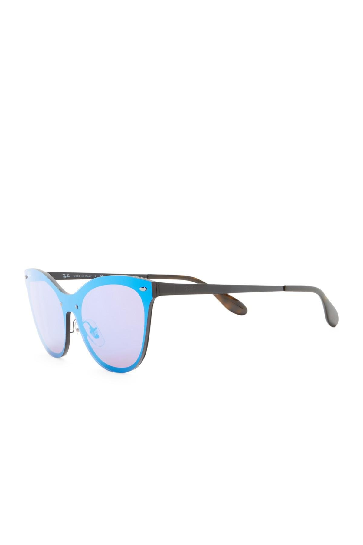 024347c9b84ab Ray-Ban - Blue 153mm Cat Eye Shield Sunglasses - Lyst. View fullscreen