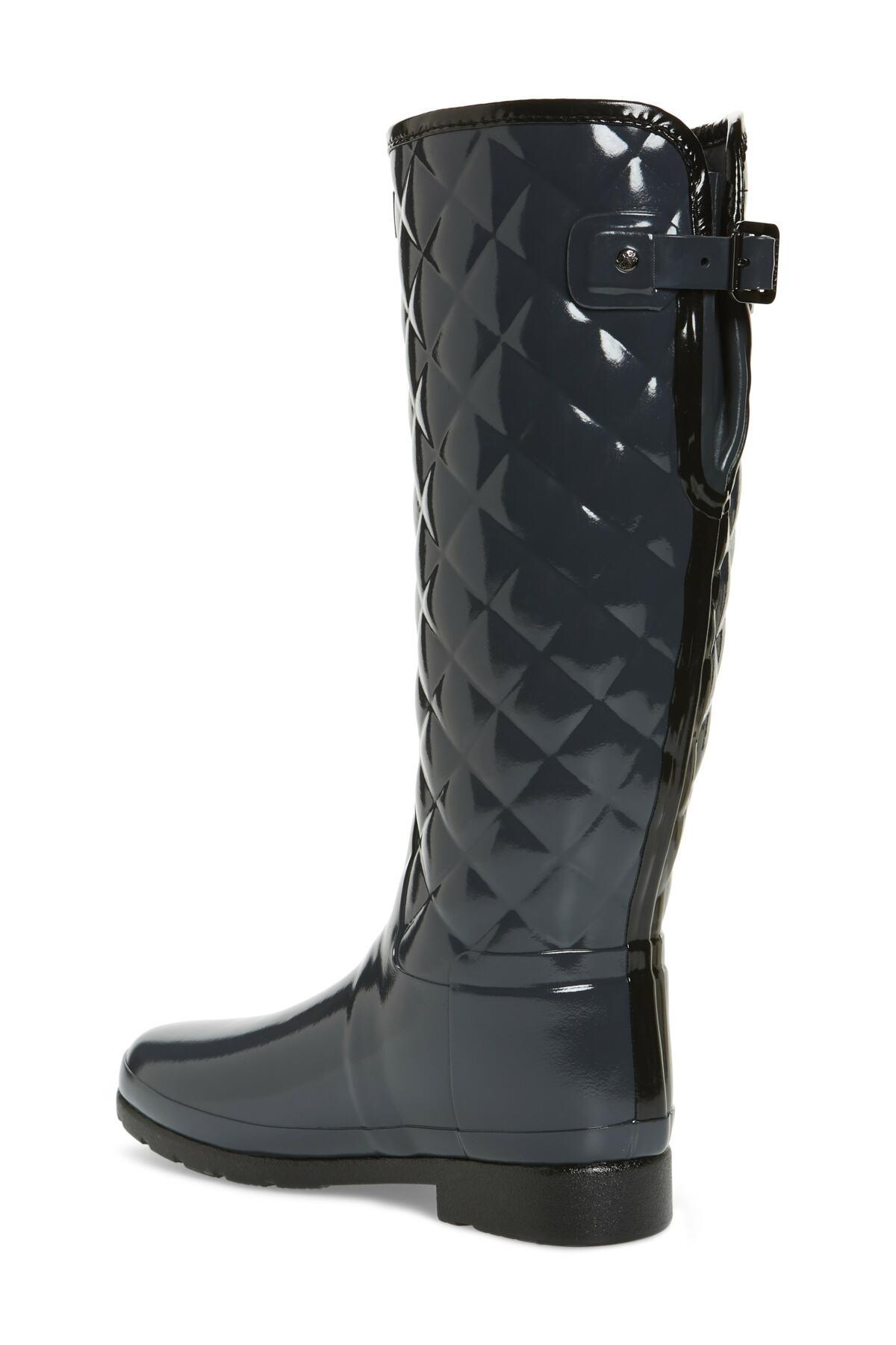 d6a001a4f40 Hunter - Multicolor Original Refined High Gloss Quilted Waterproof Rain Boot  (women) - Lyst. View fullscreen