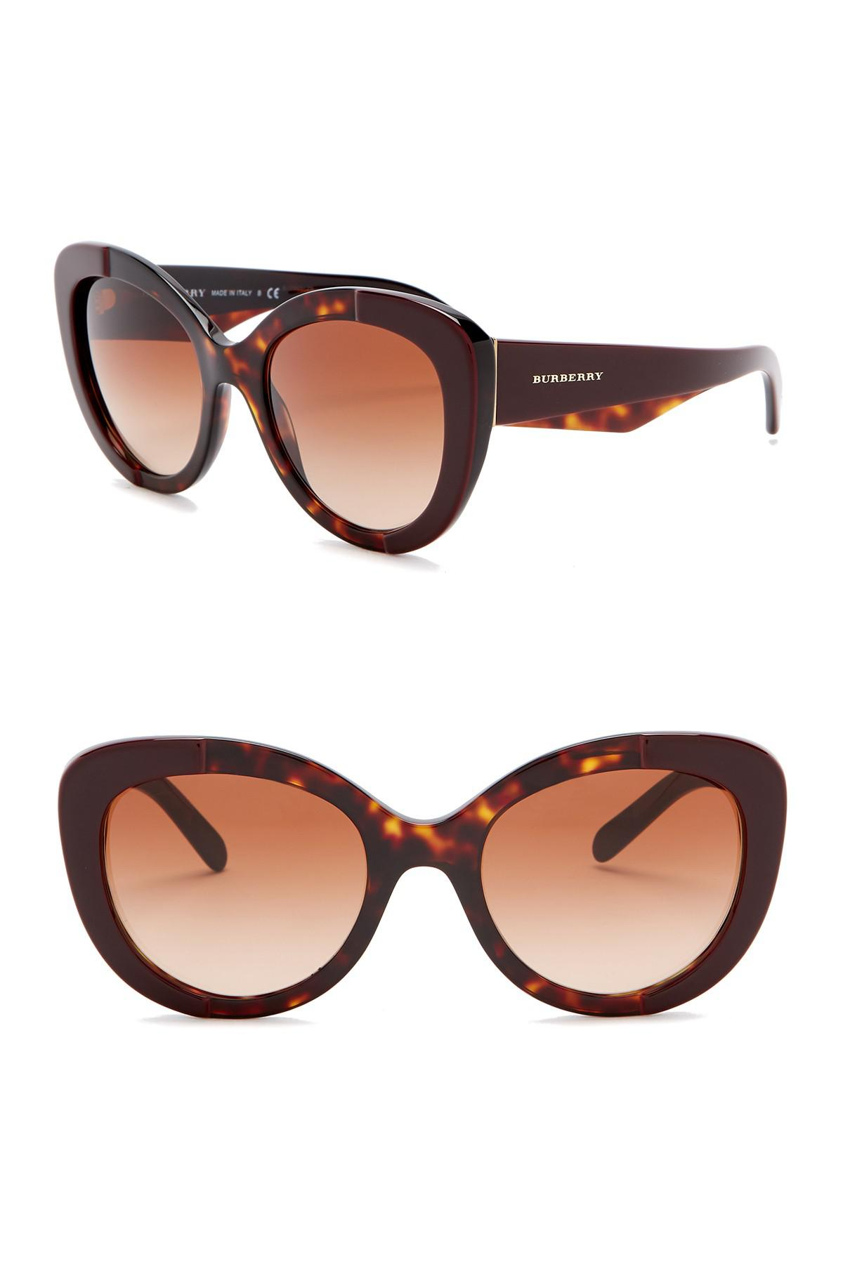7125b99cfb Burberry - Brown 54mm Butterfly Sunglasses - Lyst. View fullscreen