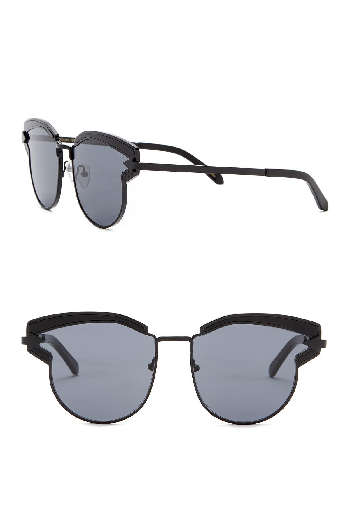 82690d57fb9 Lyst - Karen Walker 57mm Superstars Felipe Sunglasses in Black