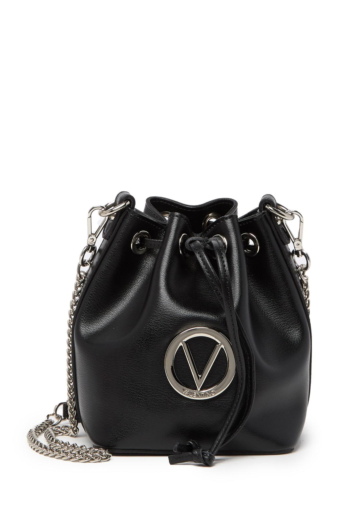 56ff828feda Lyst - Valentino By Mario Valentino Jules Leather Bucket Bag in Black