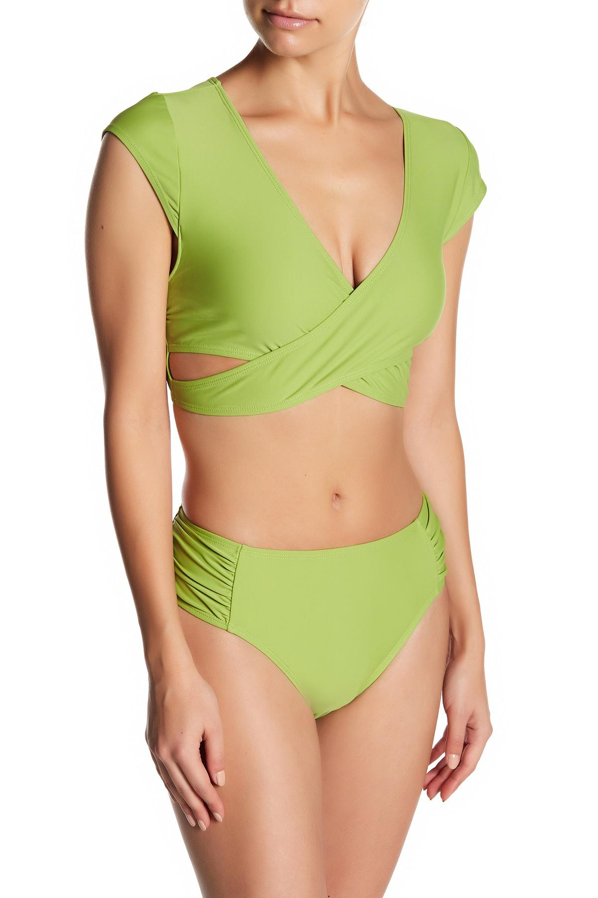 fa71e0a5f8704 Juicy Couture Marilyn Monroe Crop 2-piece Swimsuit in Green - Lyst