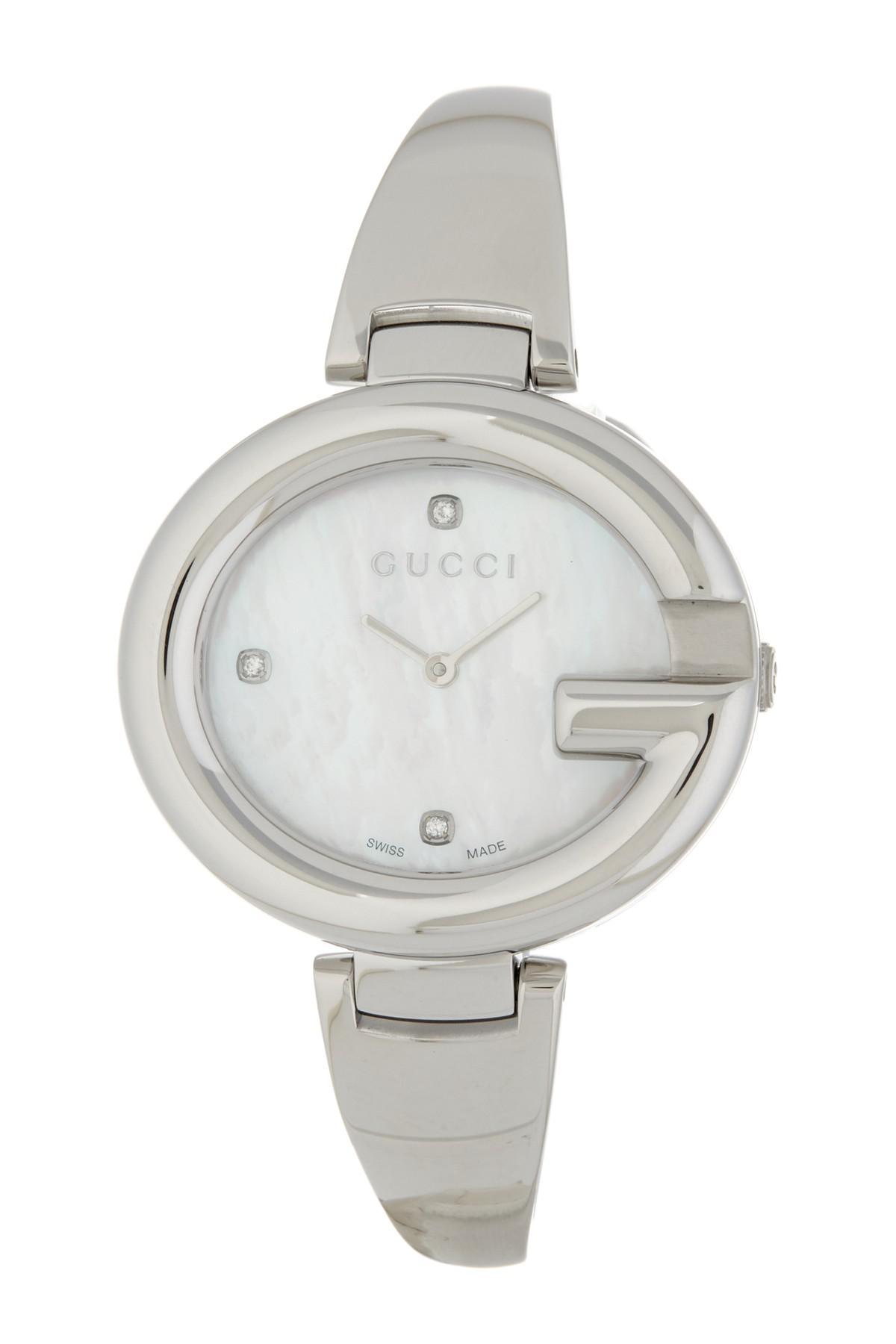 ff127f8f1d1 Gucci - Metallic Women s Ssima Diamond Marker Bangle Watch