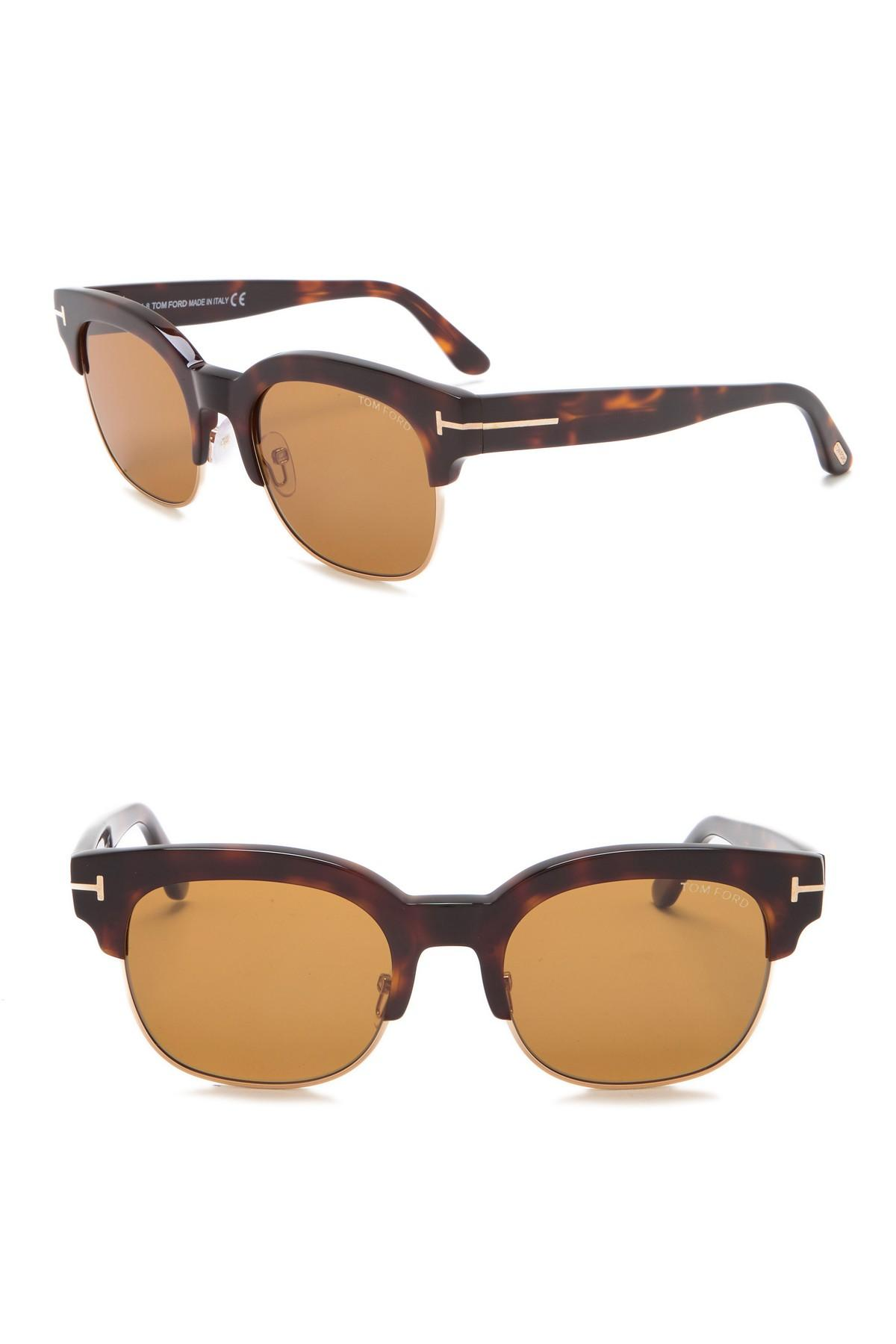 8751c932f2a Tom Ford - Brown Harry 53mm Clubmaster Sunglasses for Men - Lyst. View  fullscreen