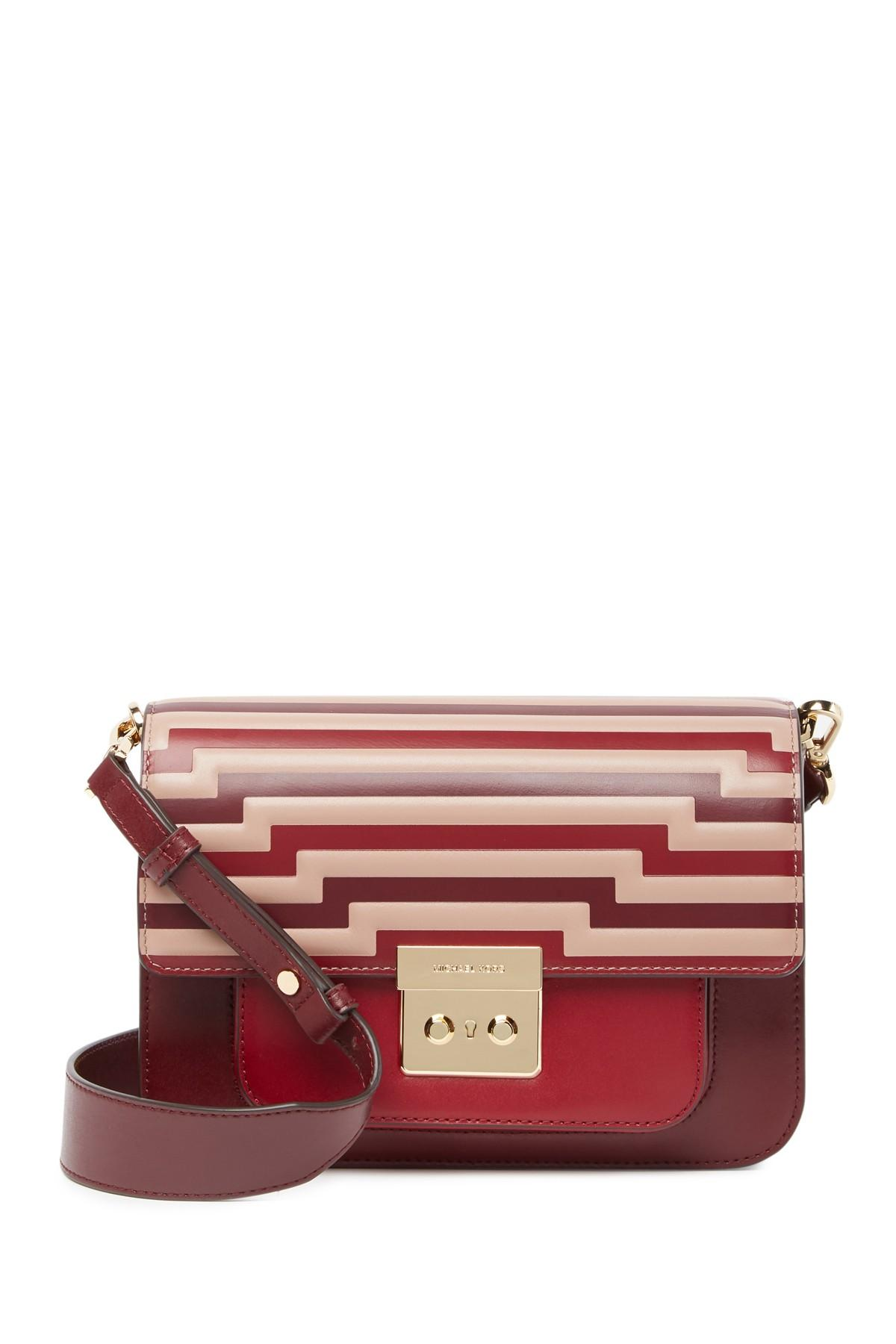 b8d5bc8d6651 MICHAEL Michael Kors Sloan Editor Leather Shoulder Bag in Red - Save ...