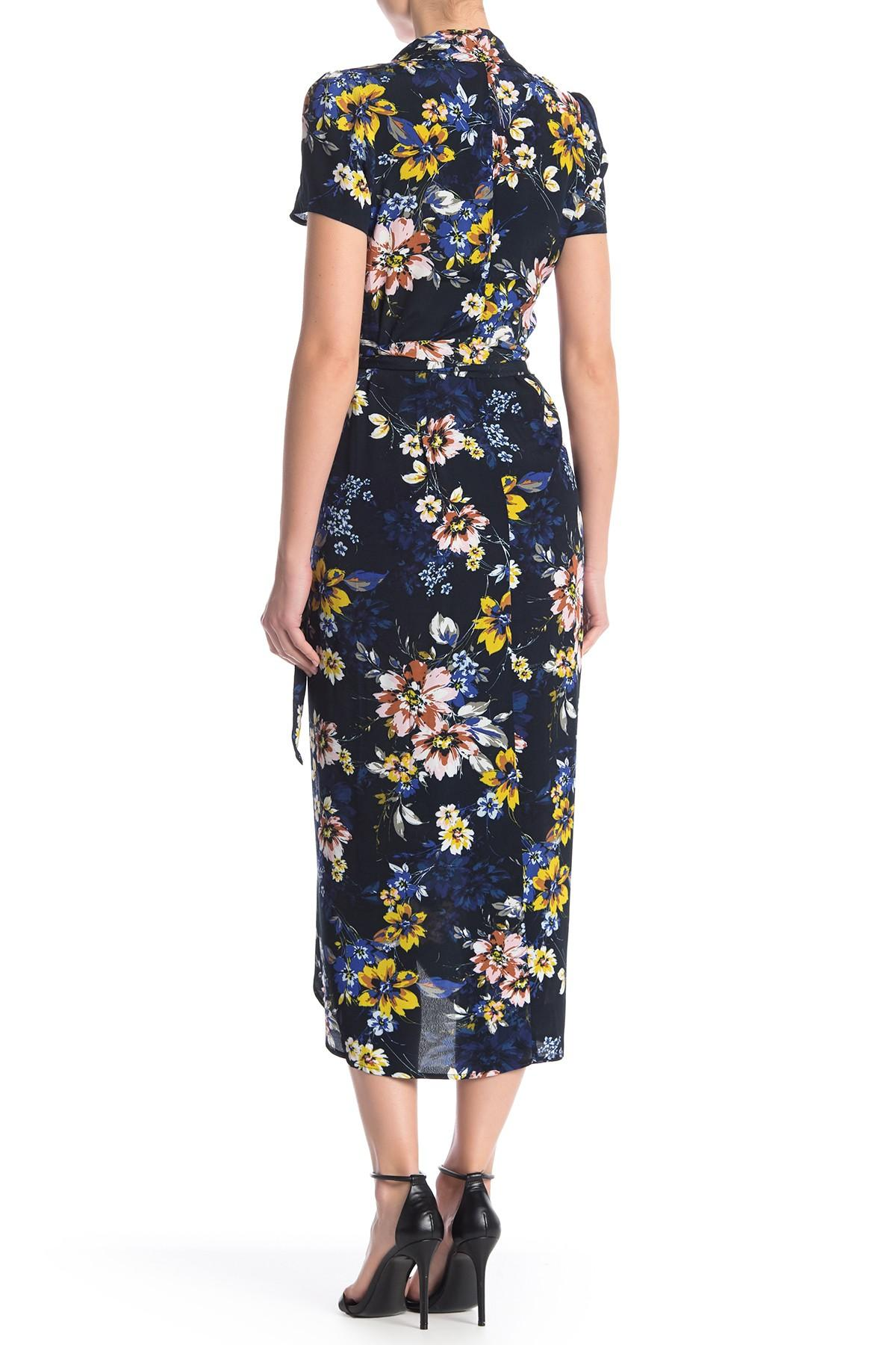 Yumi Kim Meet Amp Greet Floral Wrap Dress In Blue Lyst