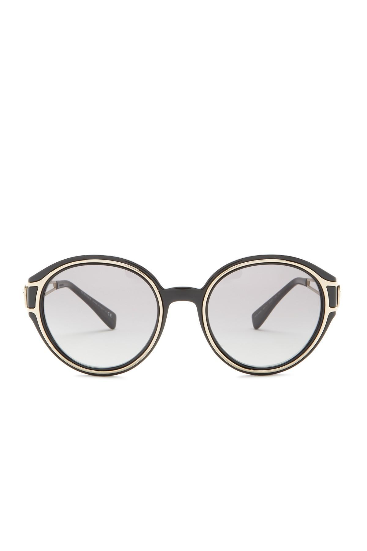 c177e681d5826 Versace - Black 53mm Round Sunglasses - Lyst. View fullscreen
