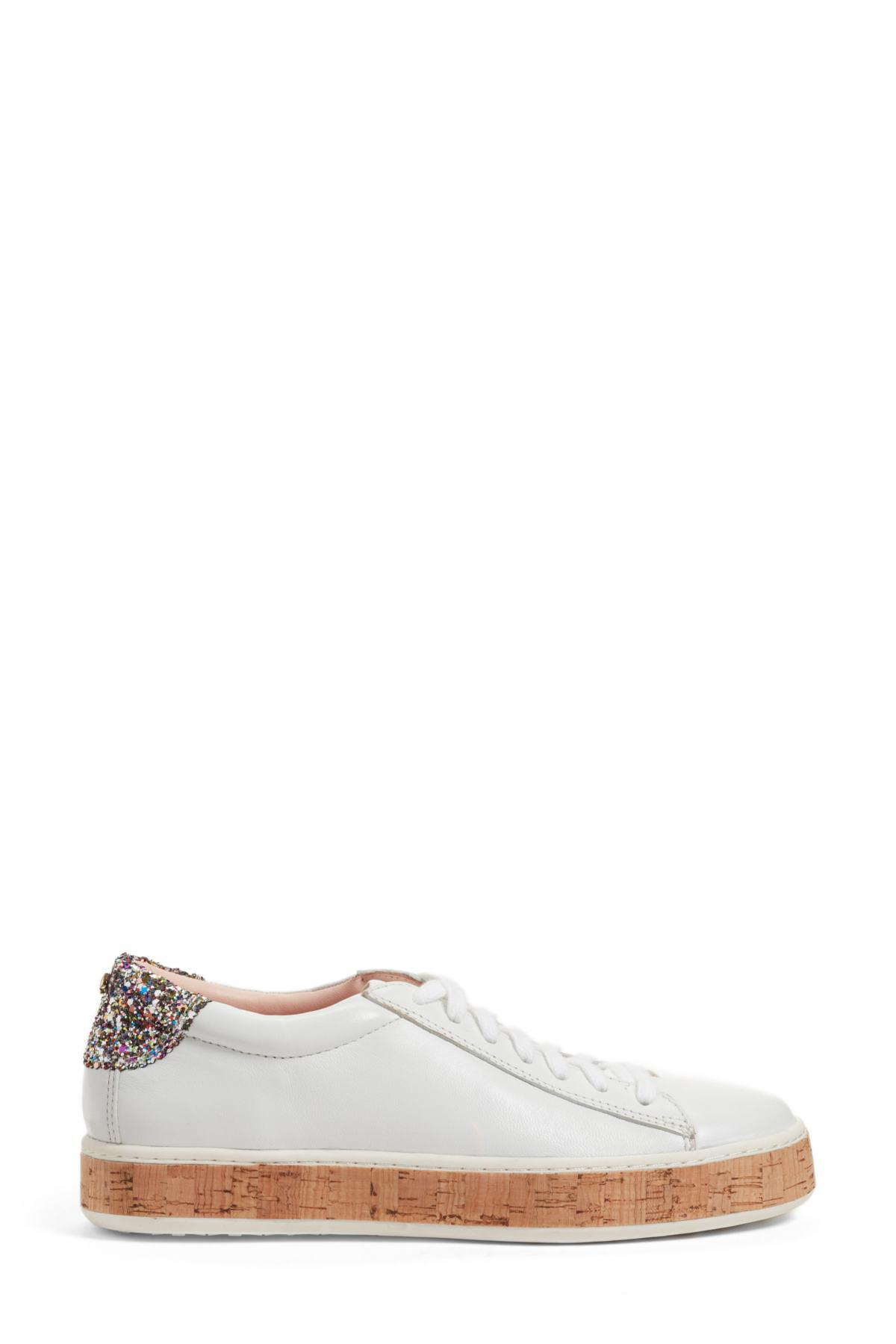 b462ab8518c2 Lyst - Kate Spade Amy Sneaker in White