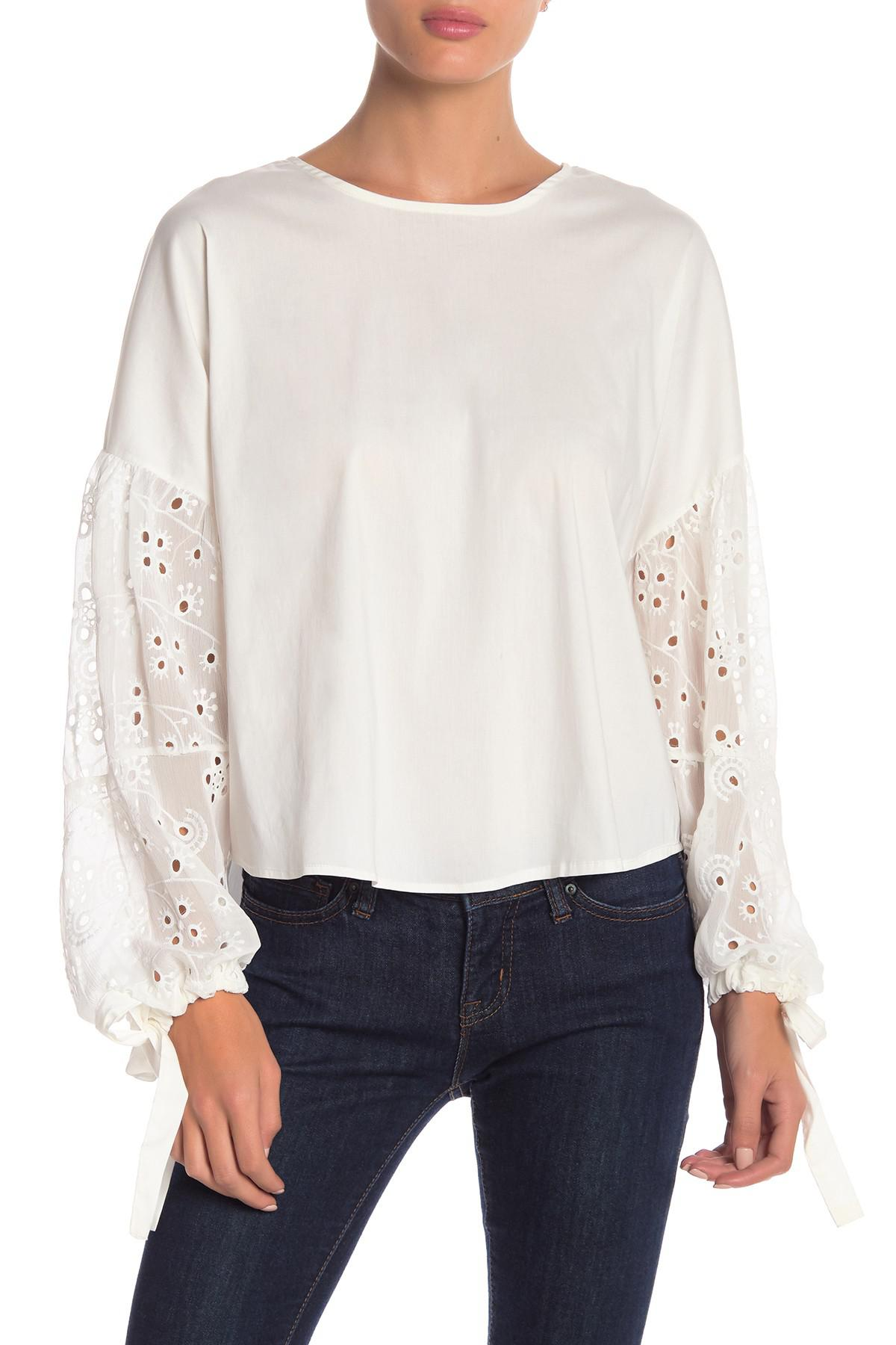 58091436a4e9f Lyst - Bishop + Young Chase Blouse in White