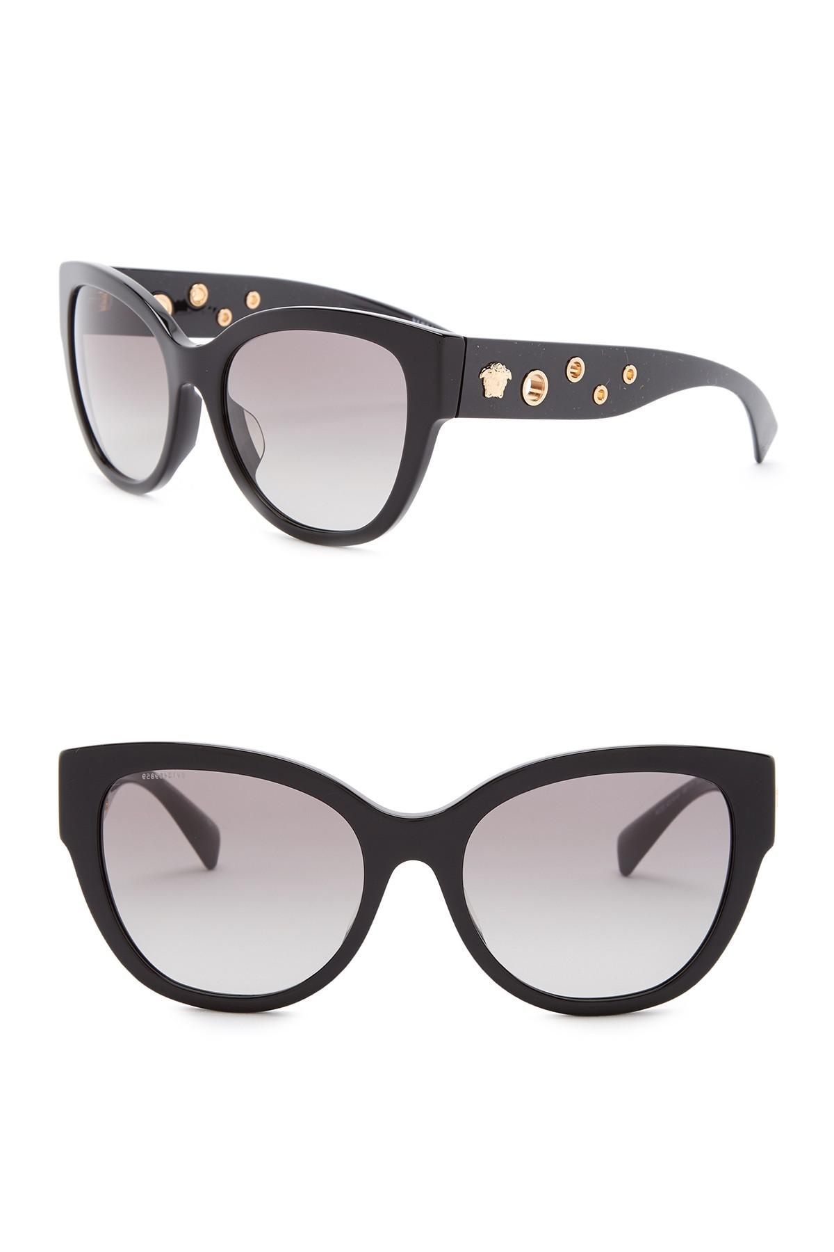 2780483aa6 Lyst - Versace 56mm Cat Eye Butterfly Rock Icons Sunglasses in Black