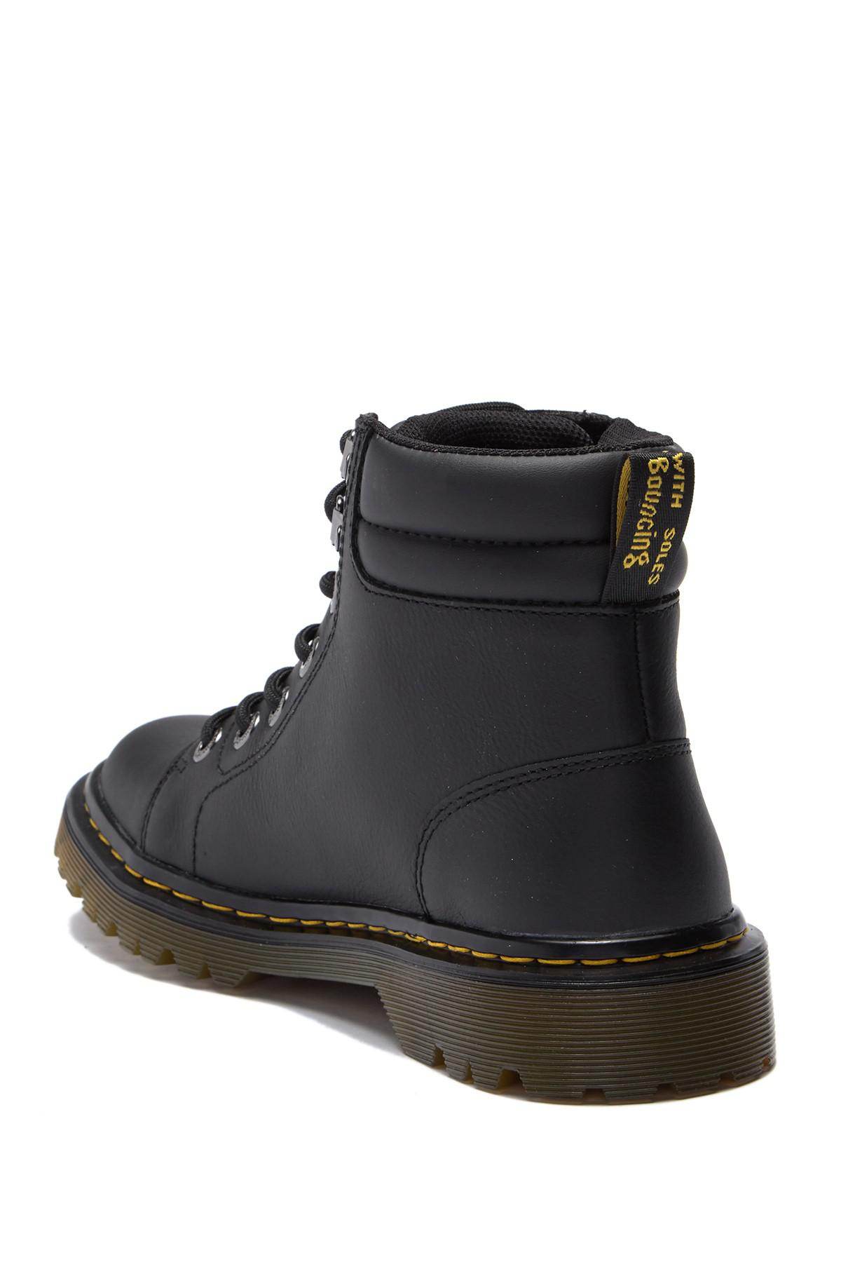 5ba985621200 Dr. Martens - Black Faora Mid Top Leather Boot - Lyst. View fullscreen