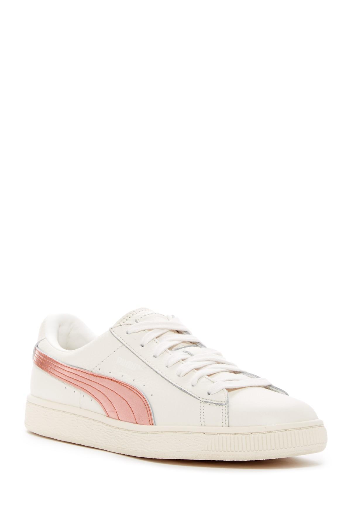 Lyst Puma Basket Classic Metallic Stripe Sneaker In White