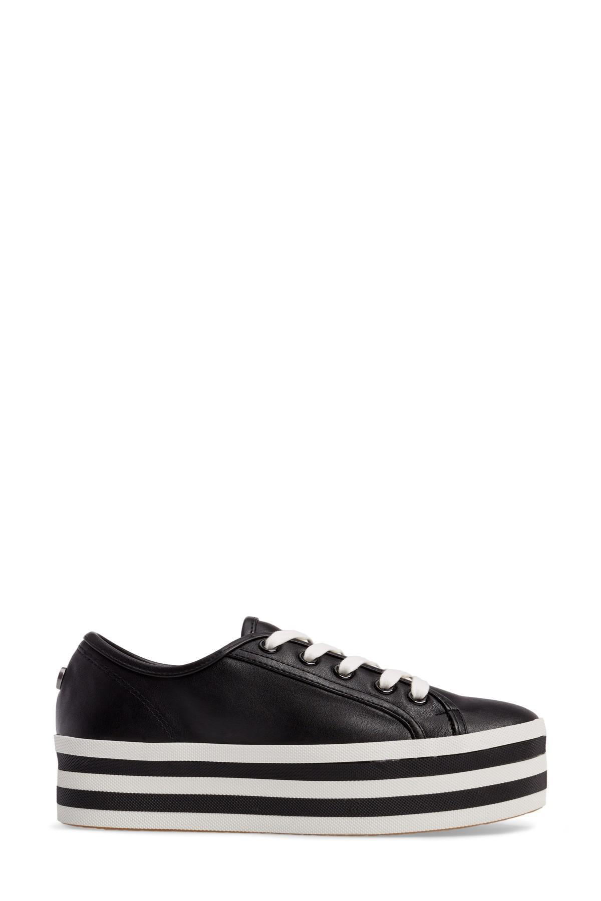 f566b9b4168 Lyst - Steve Madden Rainbow Stacked Platform Sneaker in Black