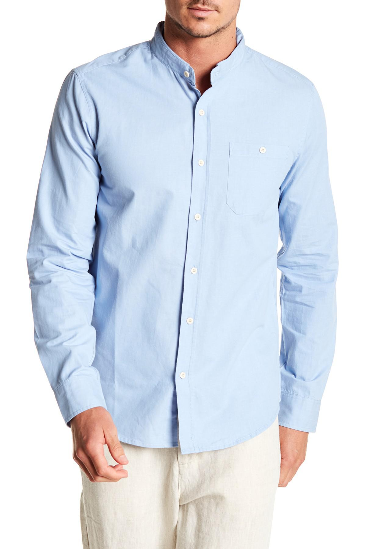 86a6f808b193d Lyst - Tavik Miner Reversible Collar Long Sleeve Modern Fit Shirt in ...