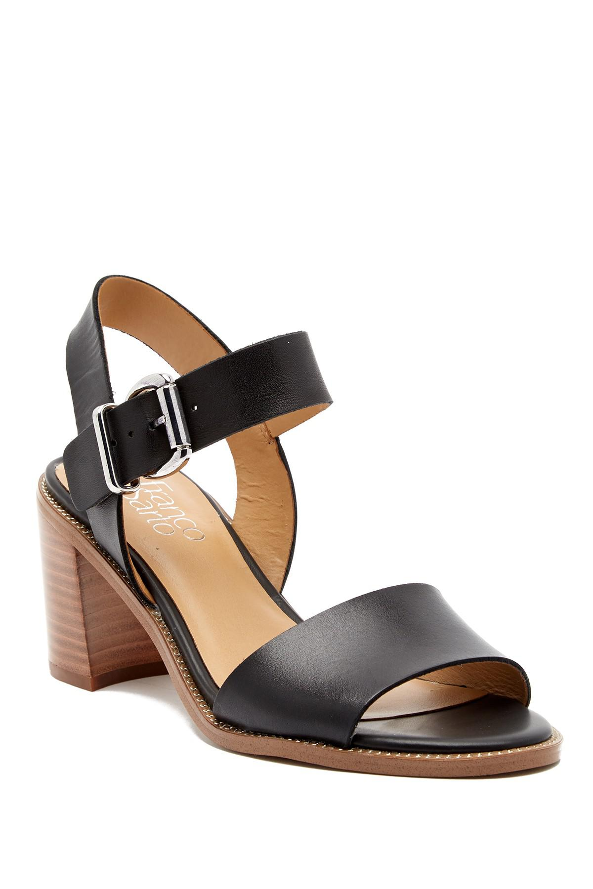 9b0ae5c6d2fc Lyst - Franco Sarto Harlie Ankle Strap Leather Sandal in Black