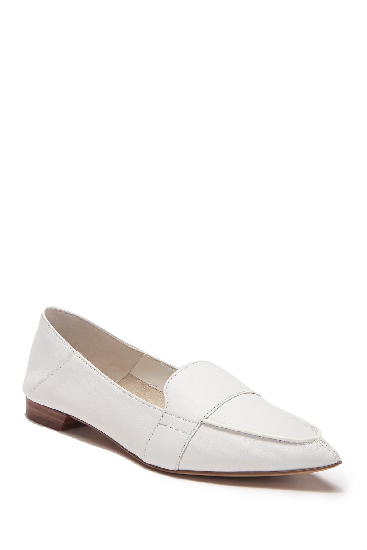 25d94606f49 Lyst - Vince Camuto Maita Pointed Toe Leather Loafer in White