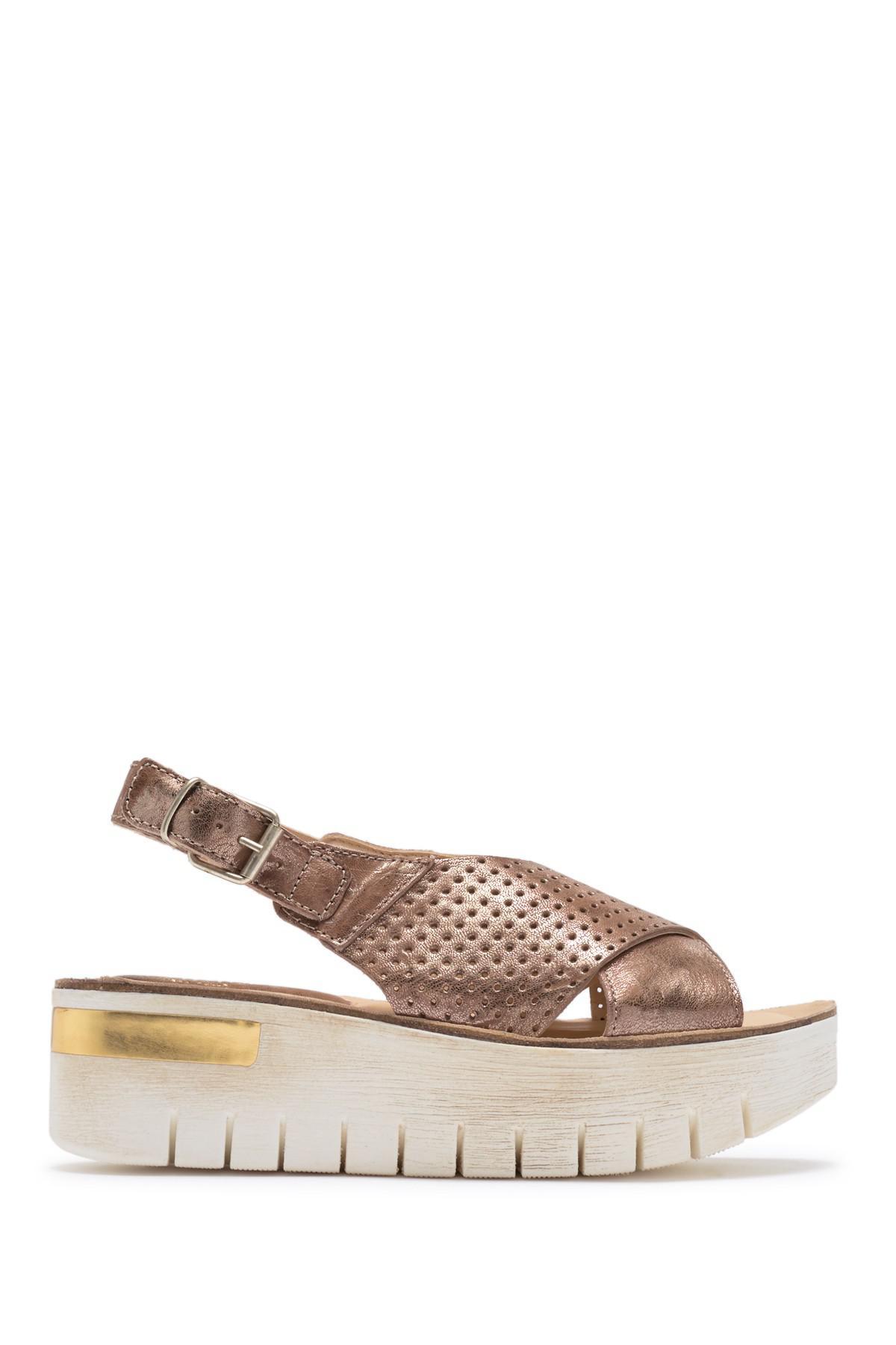 Khrio Platform Metallic Leather Sandal NJ2oAnmap
