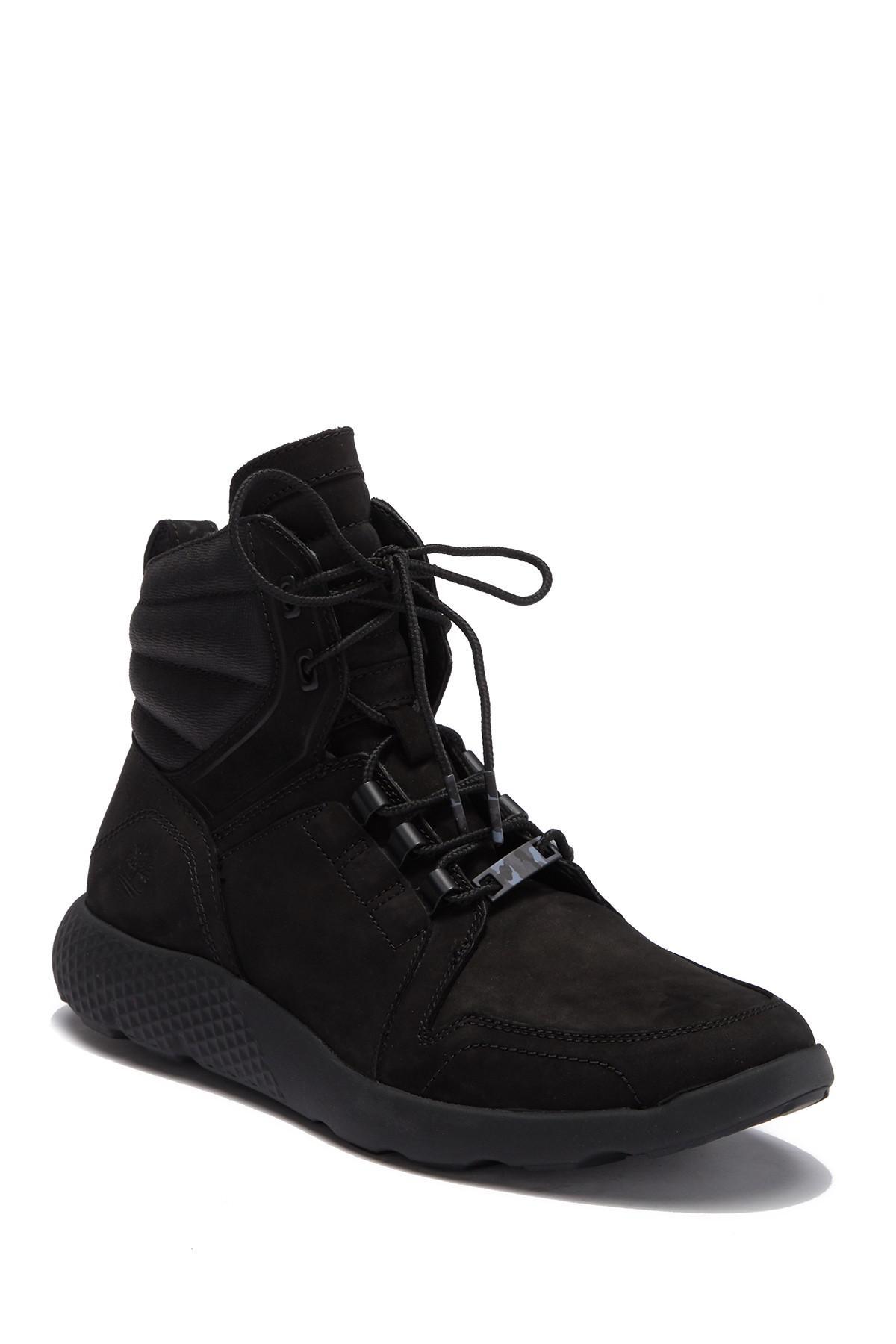 558a6a4eefc0 Lyst - Timberland Flyroam Leather Hi-top Sneaker Boot in Black for Men