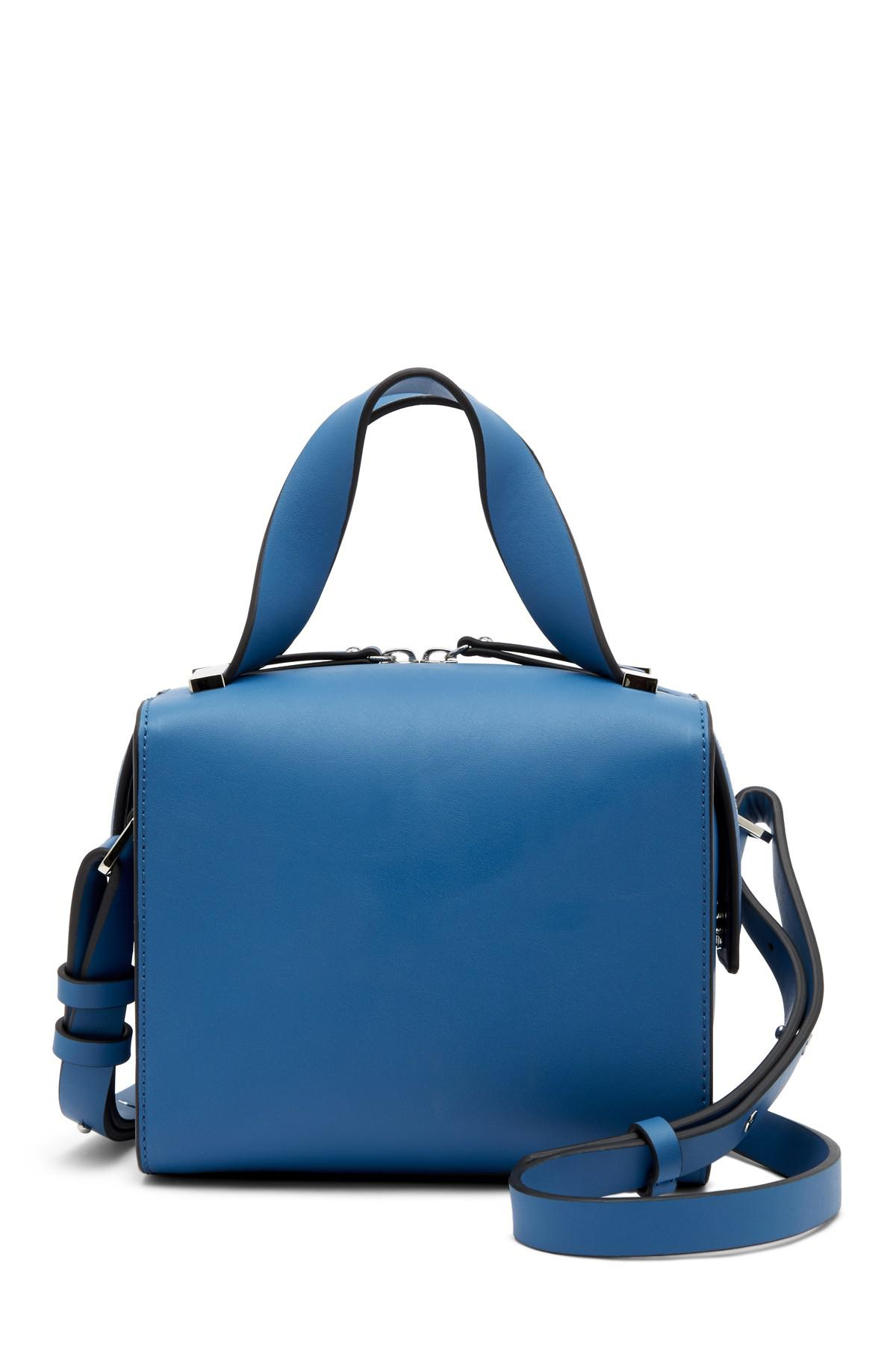 Lyst - French Connection Owen Mini Box Bag in Blue